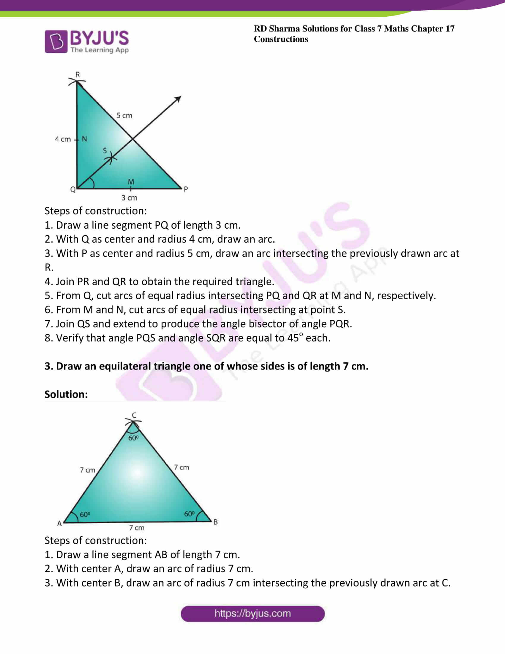rd sharma maths class7 solution chapter 17 ex 2 2