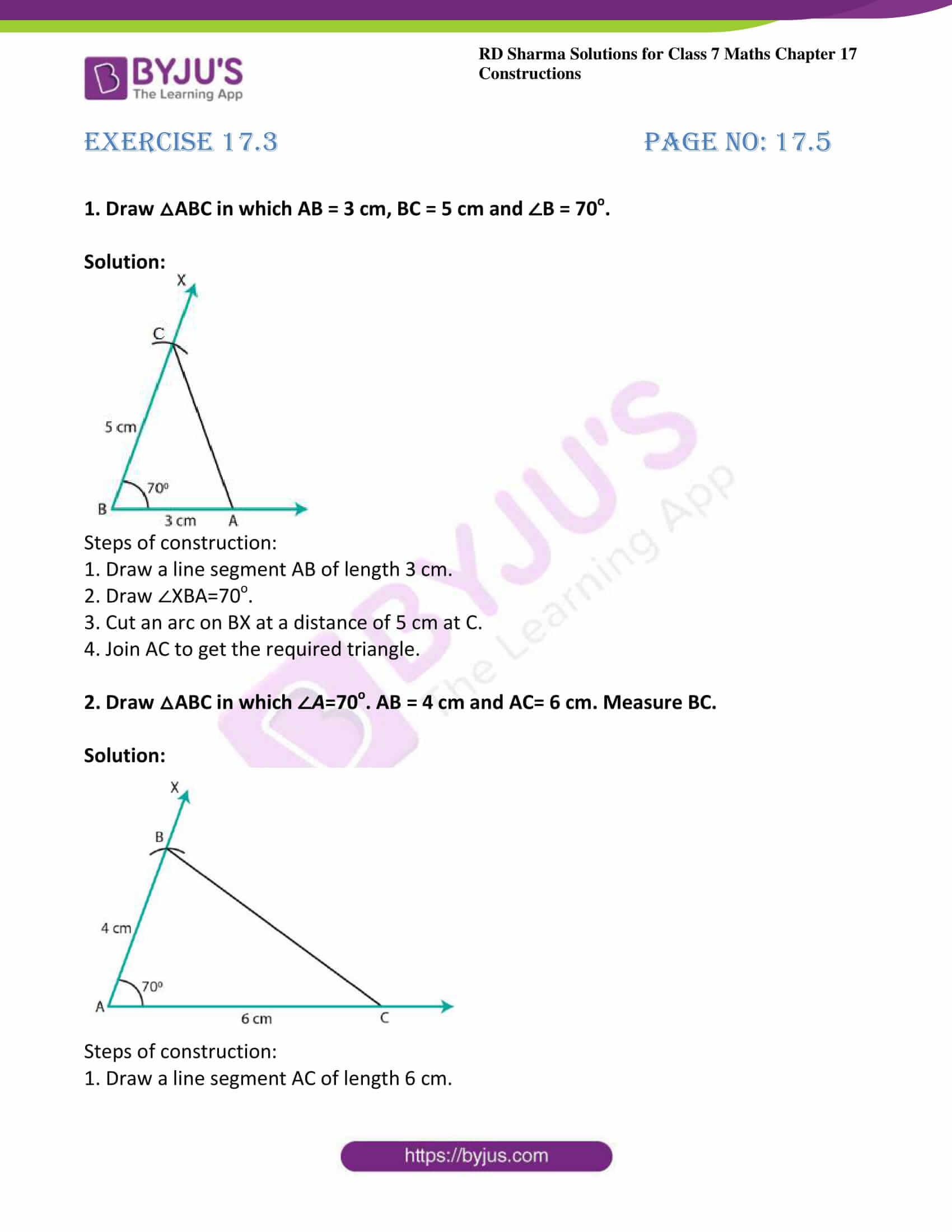 rd sharma maths class7 solution chapter 17 ex 3 1