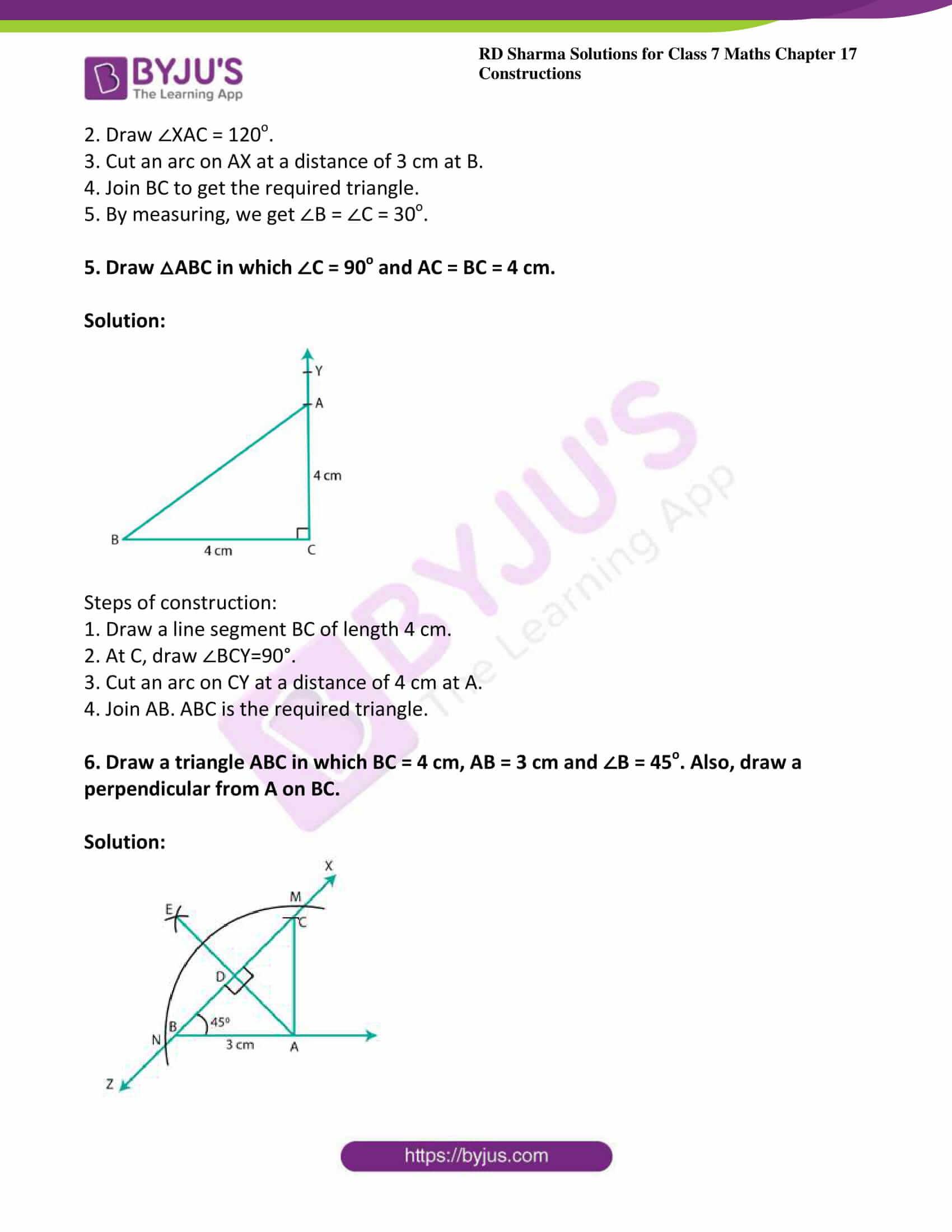 rd sharma maths class7 solution chapter 17 ex 3 3