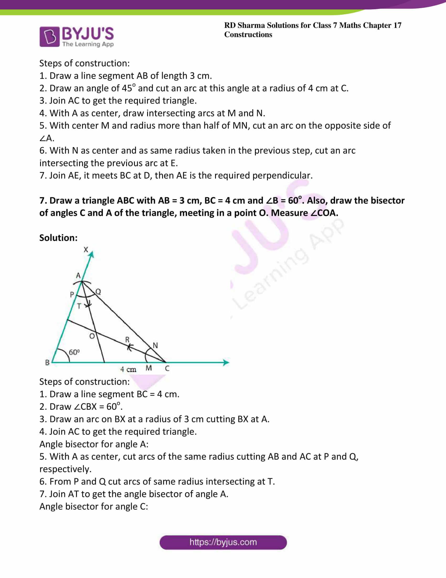rd sharma maths class7 solution chapter 17 ex 3 4