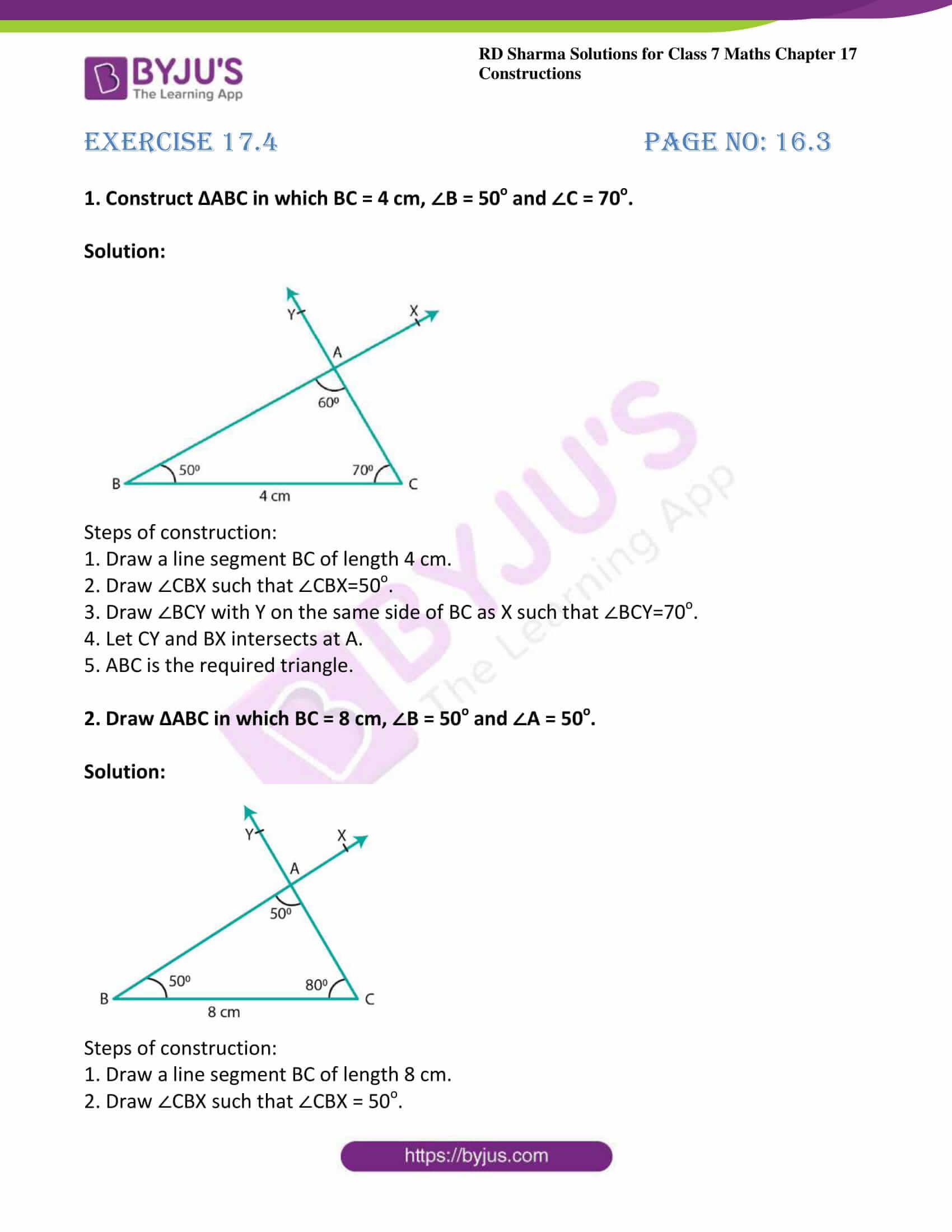 rd sharma maths class7 solution chapter 17 ex 4 1