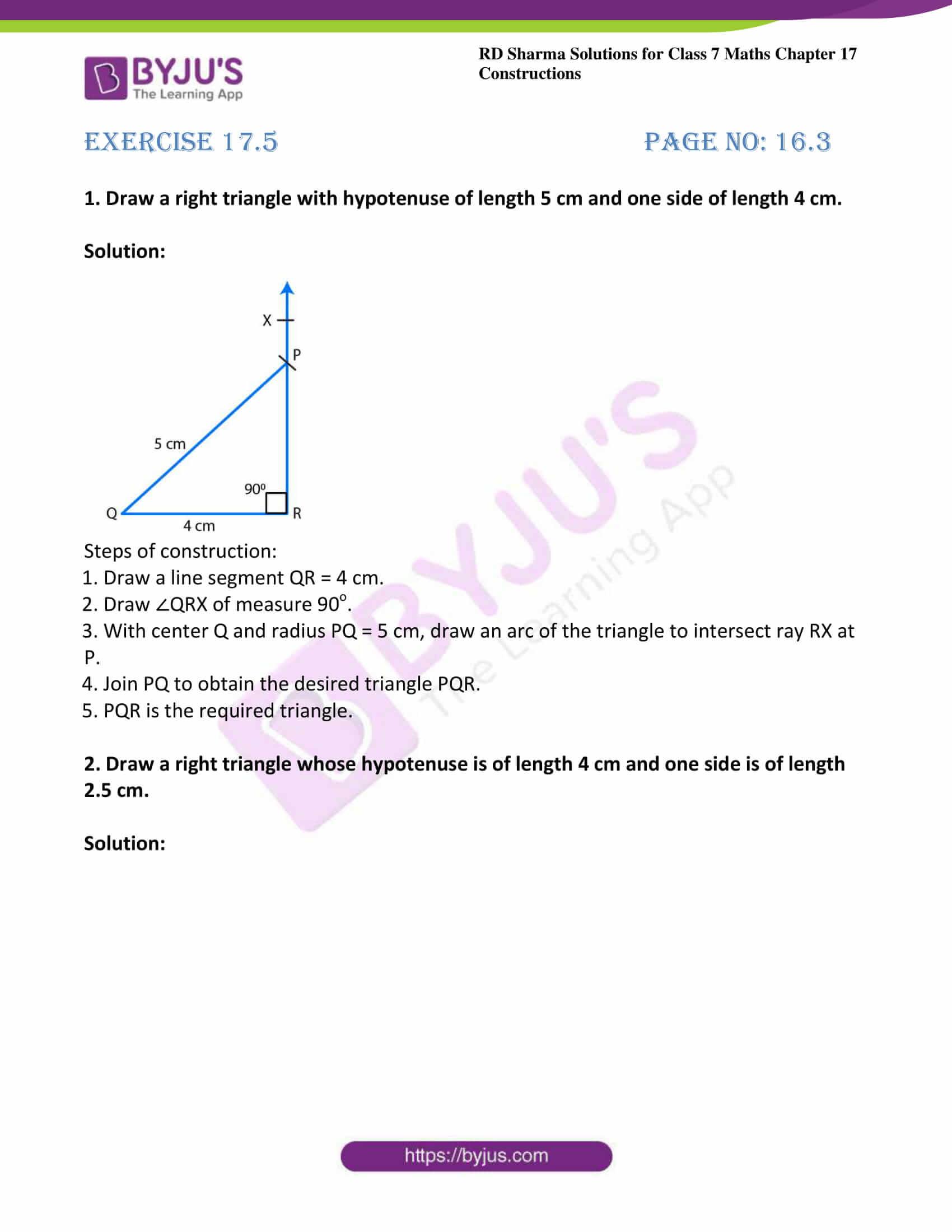 rd sharma maths class7 solution chapter 17 ex 5 1