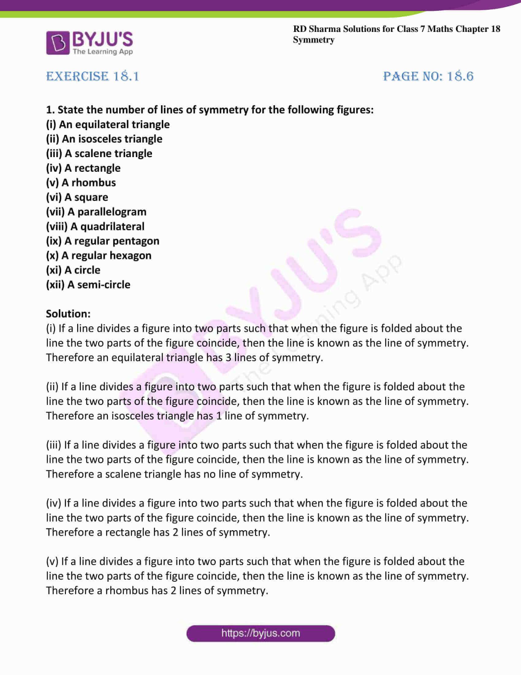 rd sharma maths class7 solution chapter 18 ex 1 1