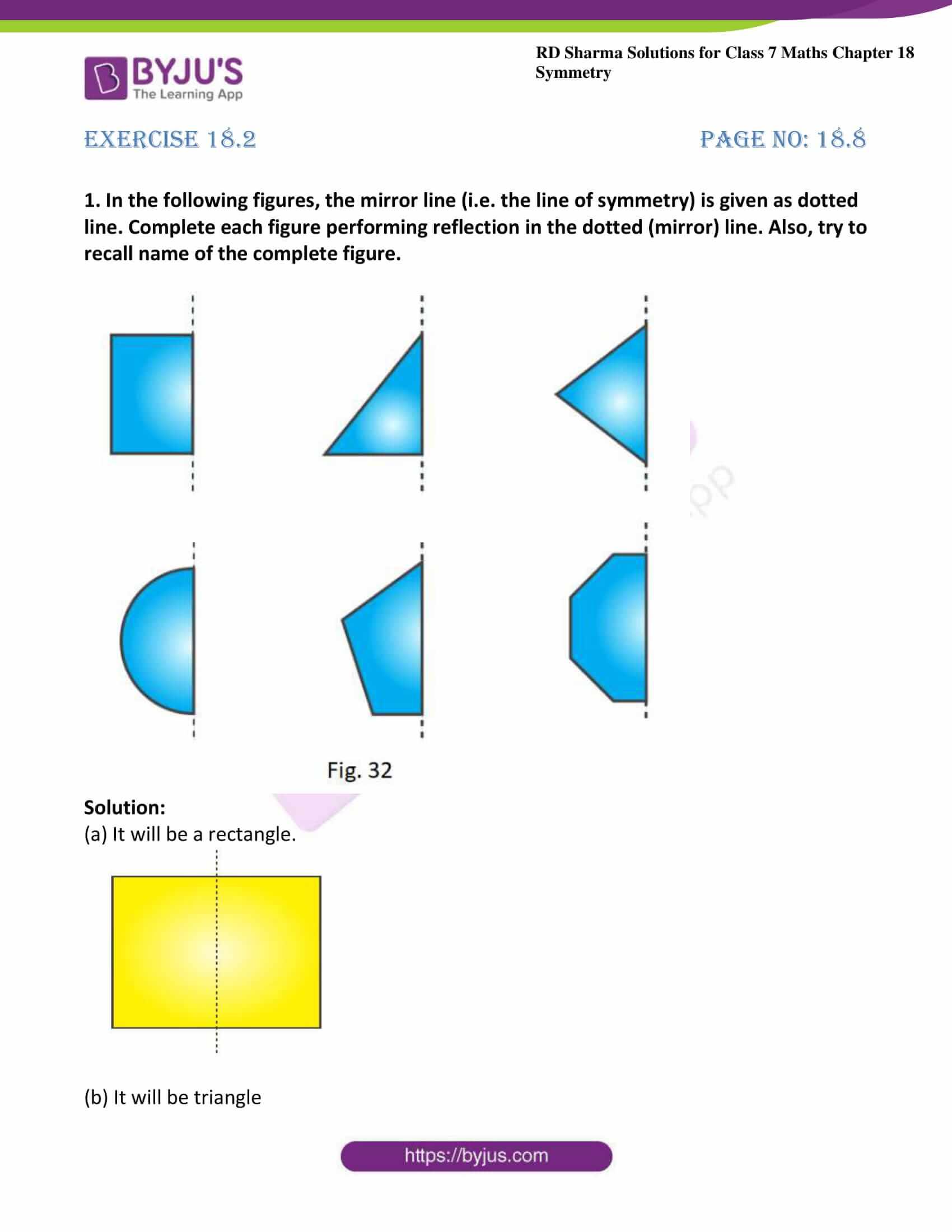 rd sharma maths class7 solution chapter 18 ex 2 1