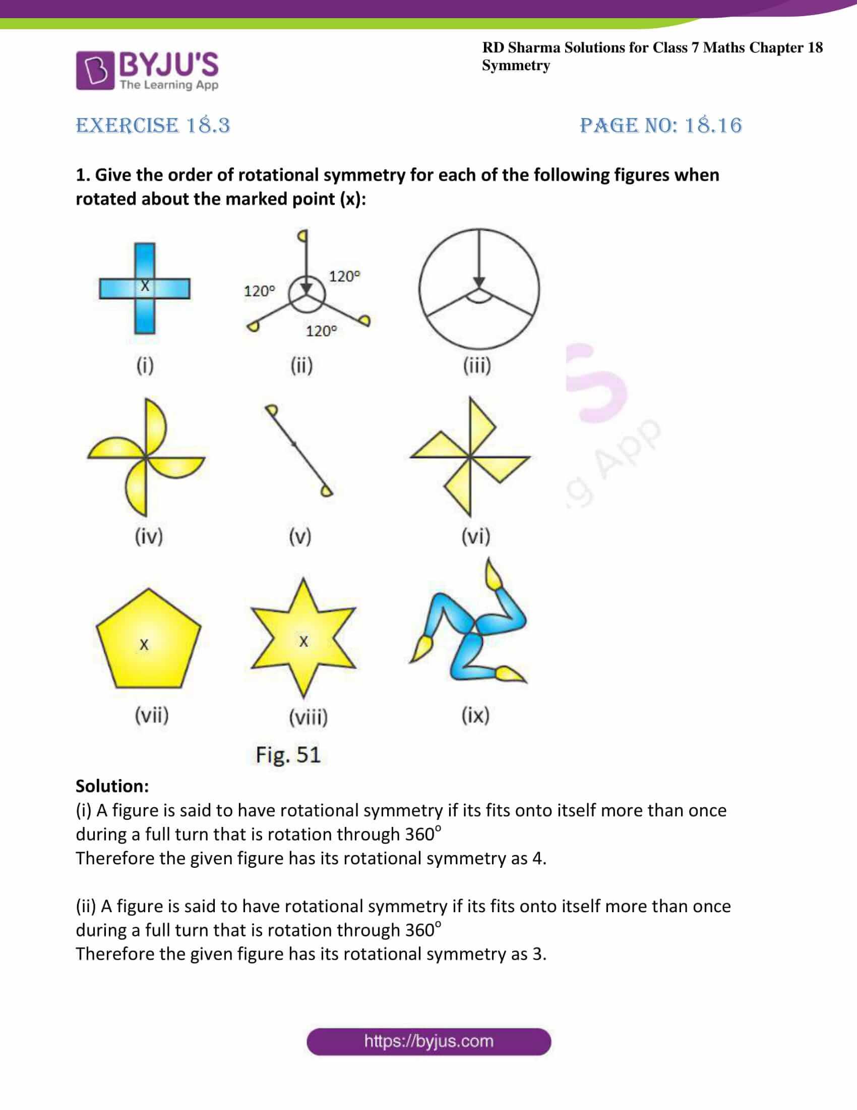 rd sharma maths class7 solution chapter 18 ex 3 1