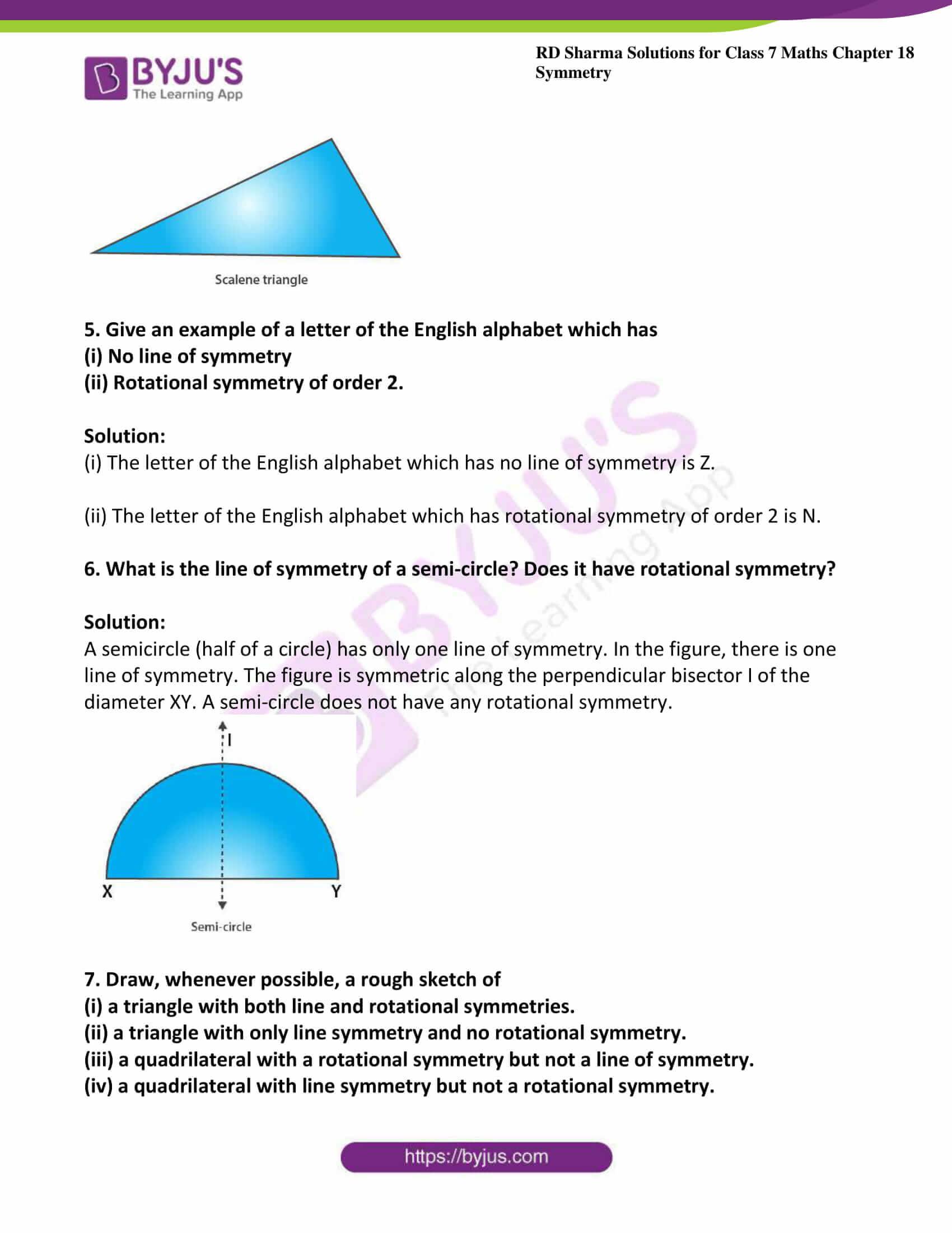 rd sharma maths class7 solution chapter 18 ex 3 4