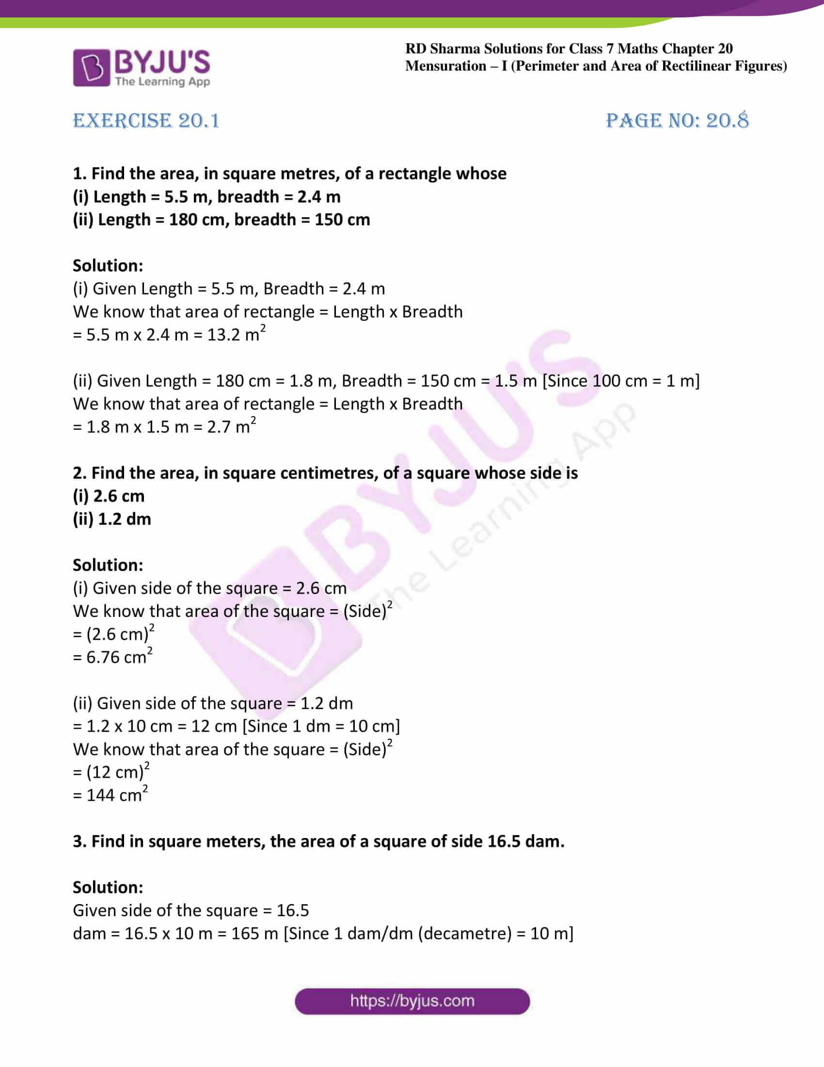 rd sharma maths class7 solution chapter 20 ex 1 01
