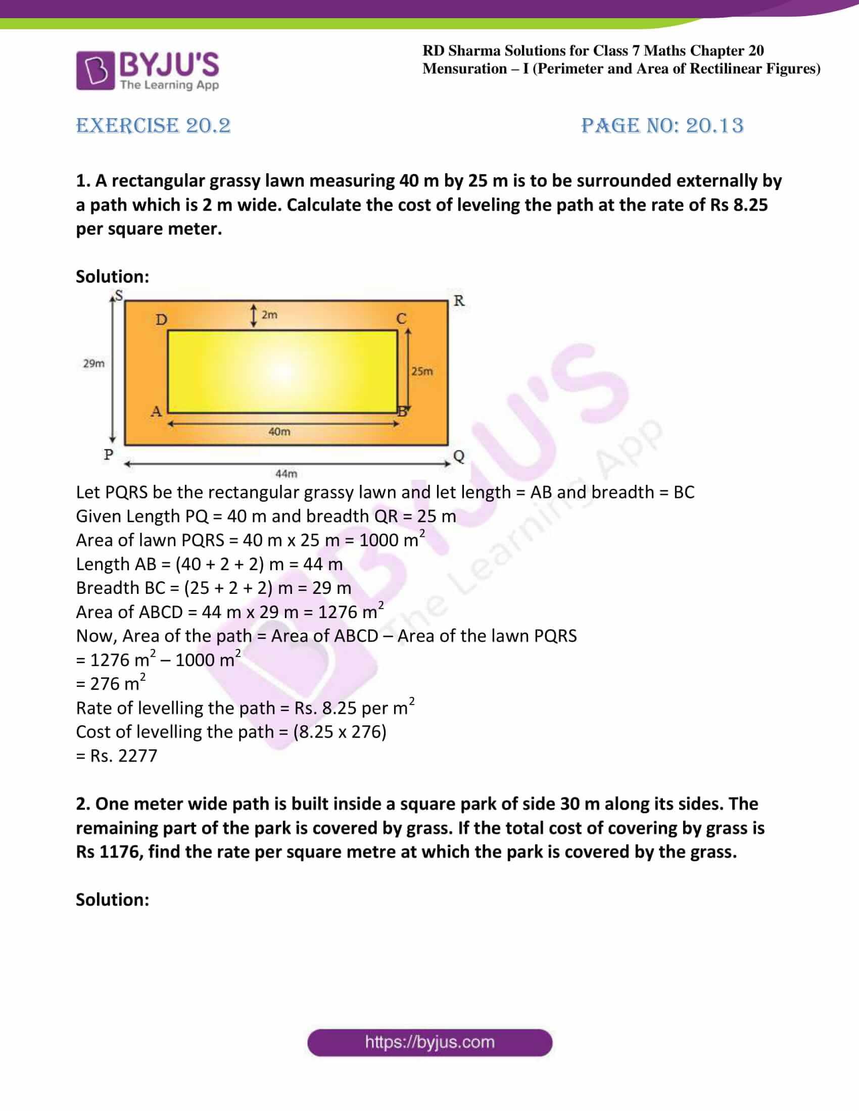 rd sharma maths class7 solution chapter 20 ex 2 01