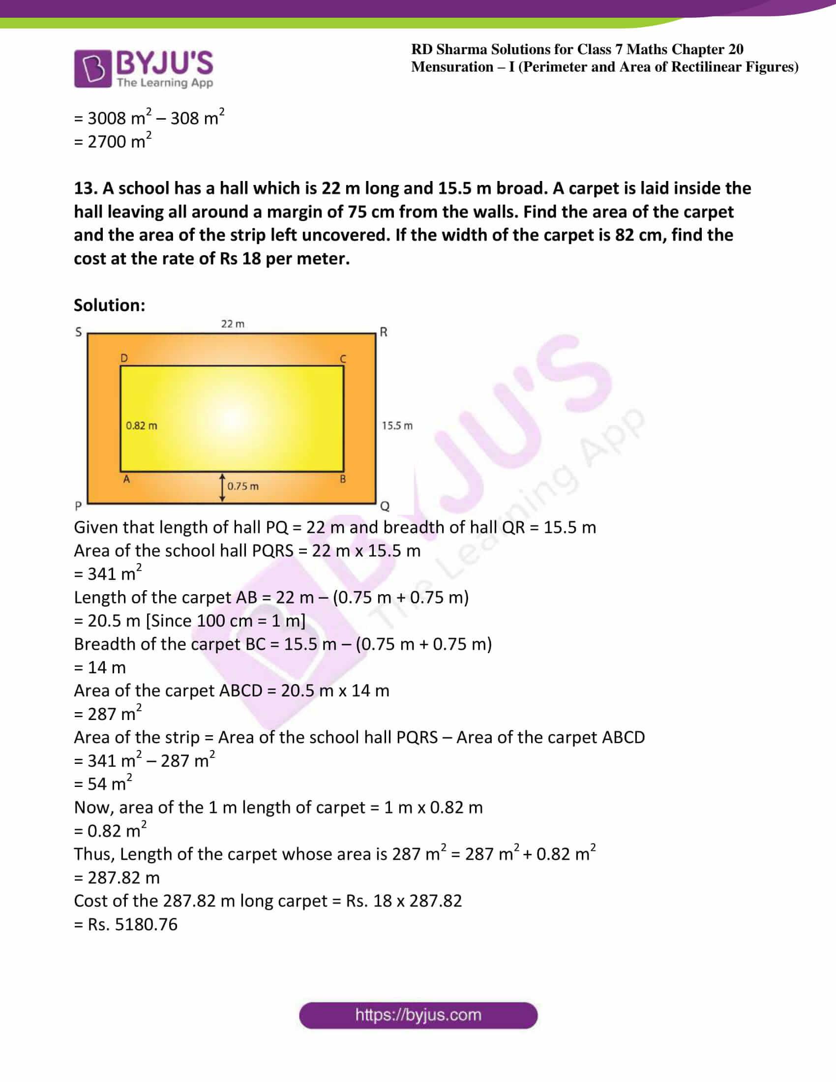rd sharma maths class7 solution chapter 20 ex 2 12