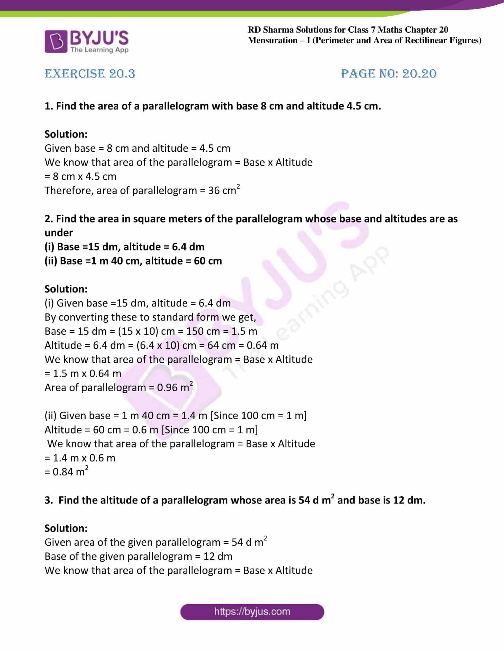 rd sharma maths class7 solution chapter 20 ex 3 01