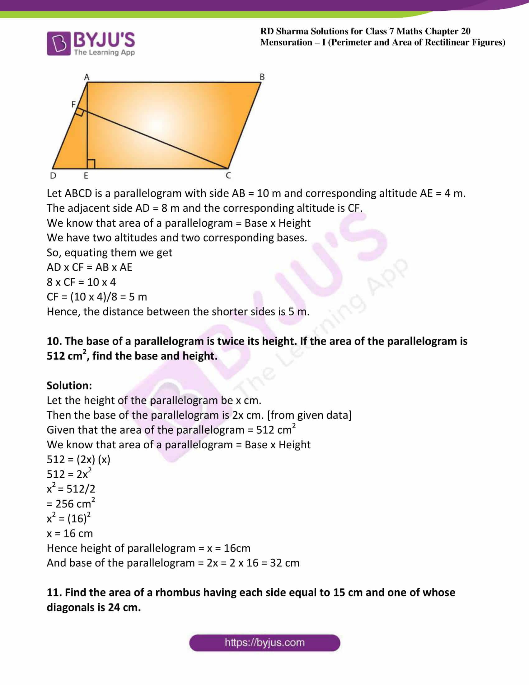 rd sharma maths class7 solution chapter 20 ex 3 06