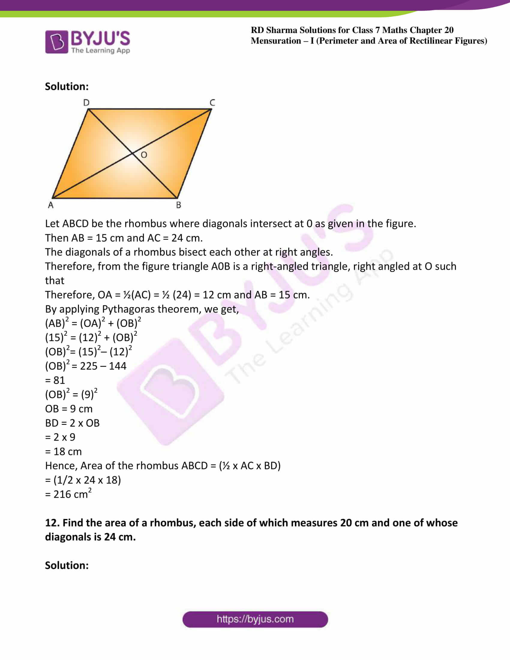 rd sharma maths class7 solution chapter 20 ex 3 07
