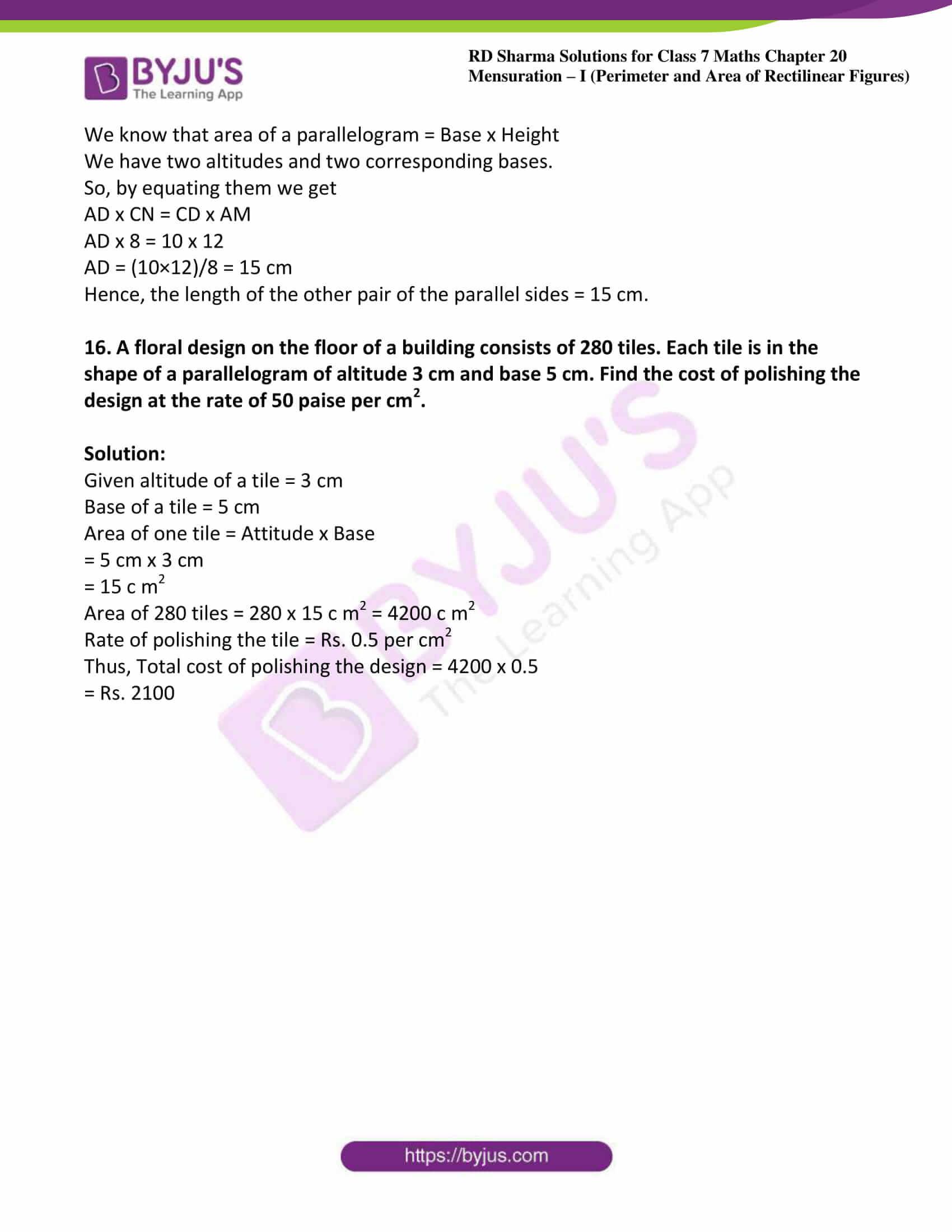 rd sharma maths class7 solution chapter 20 ex 3 11