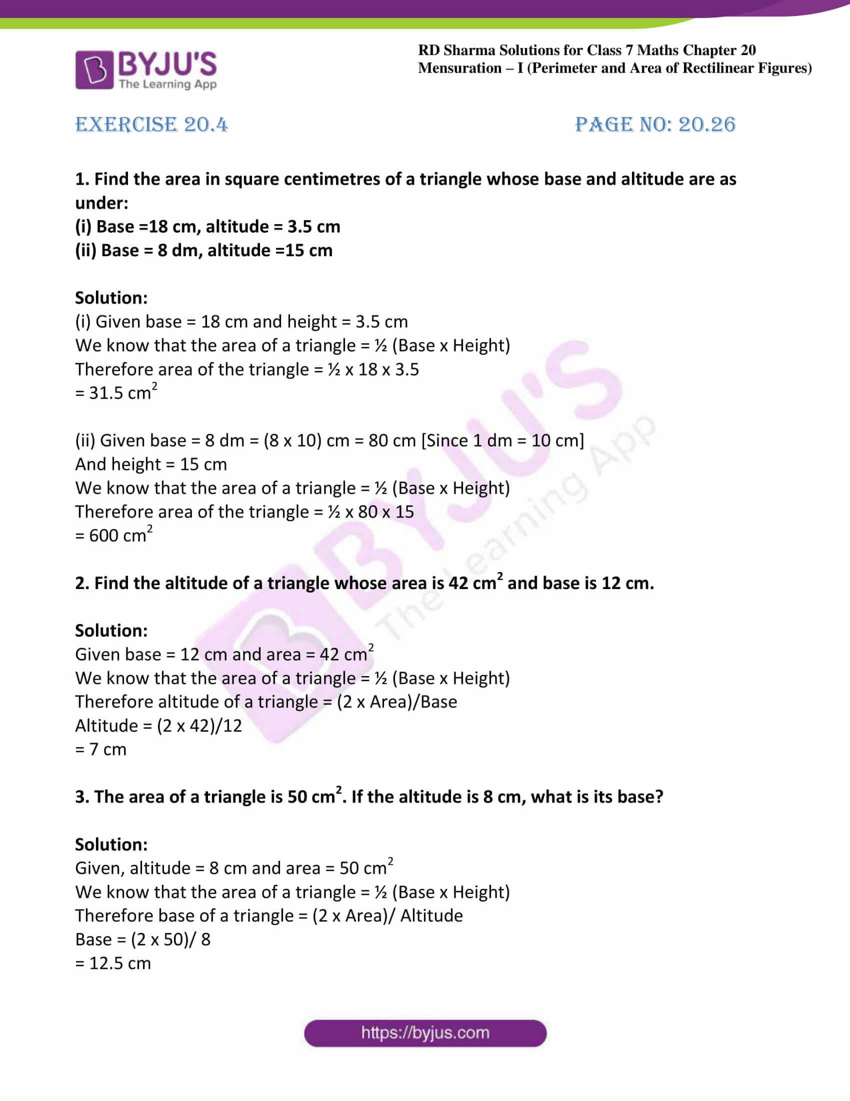 rd sharma maths class7 solution chapter 20 ex 4 01