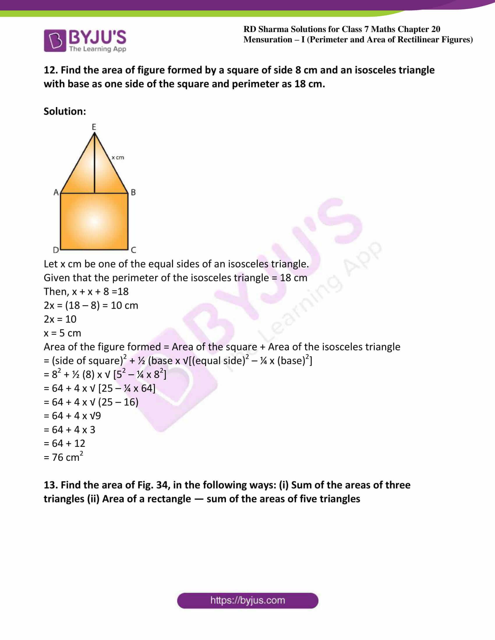 rd sharma maths class7 solution chapter 20 ex 4 07