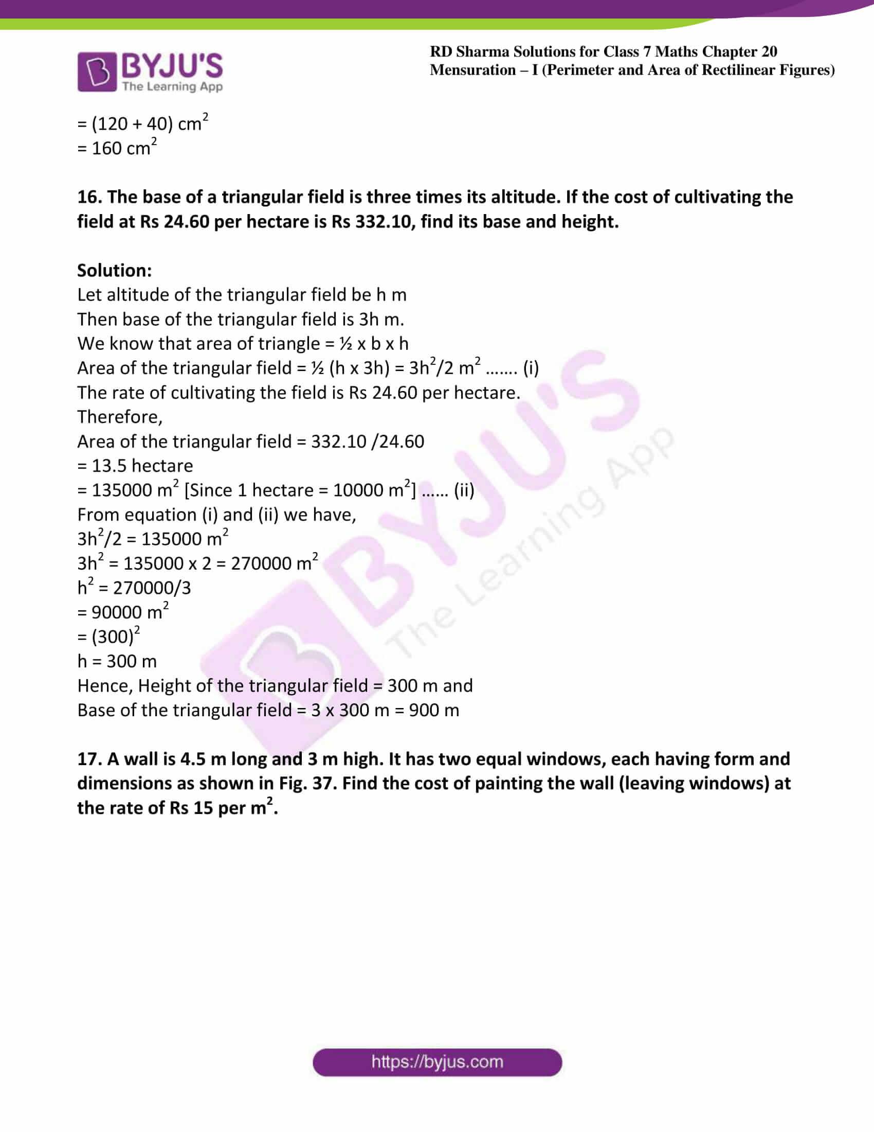 rd sharma maths class7 solution chapter 20 ex 4 11