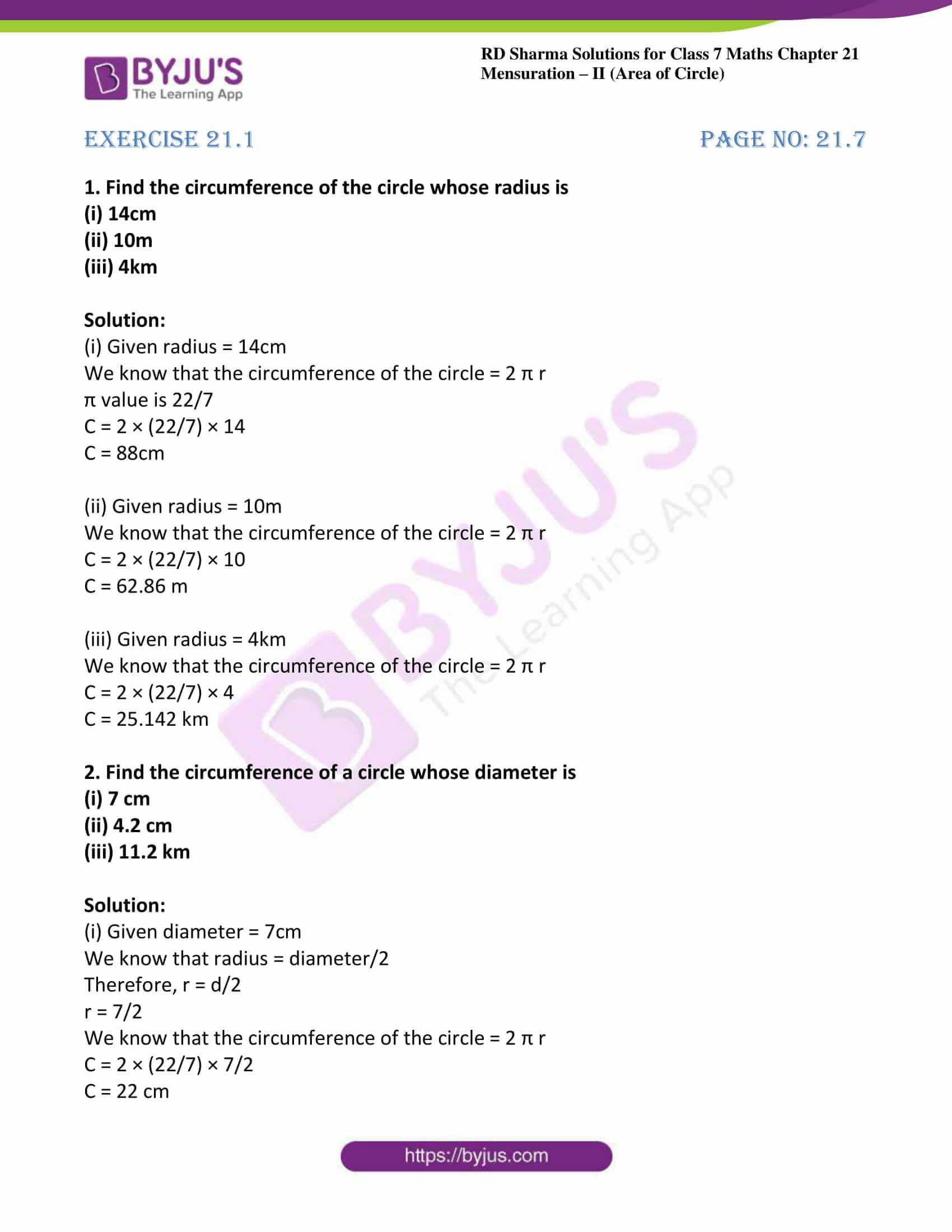 rd sharma maths class7 solution chapter 21 ex 1 01