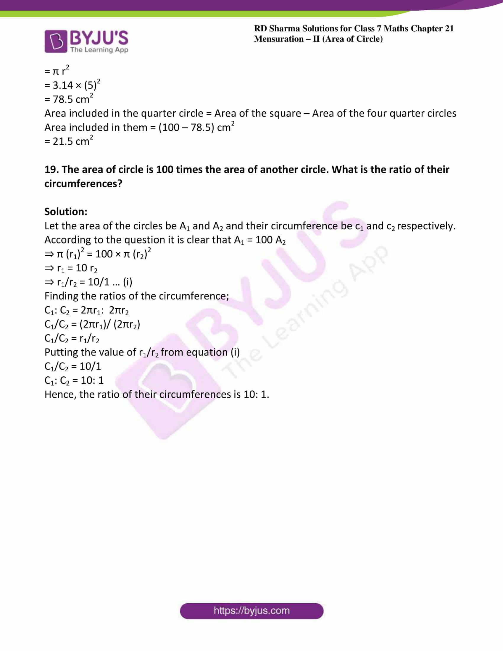 rd sharma maths class7 solution chapter 21 ex 2 10