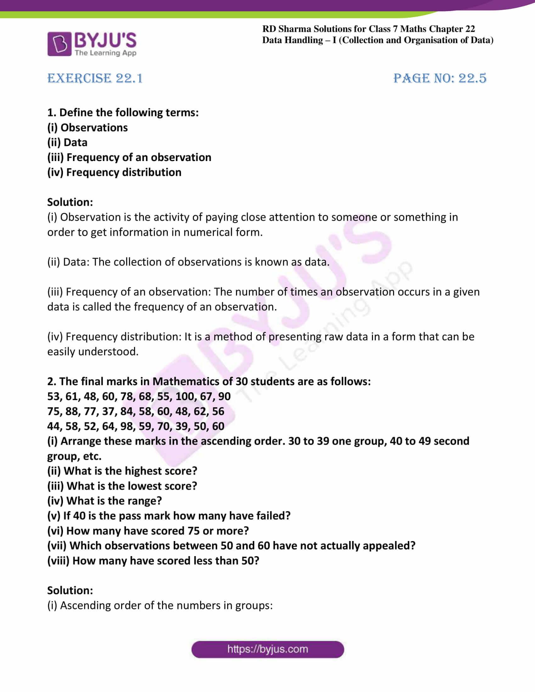 rd sharma maths class7 solution chapter 22 1