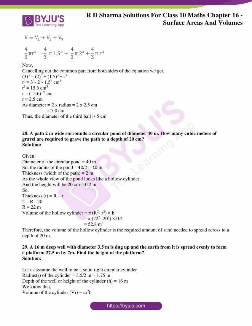 rd sharma solutions class 10 chapter 16 exercise 1