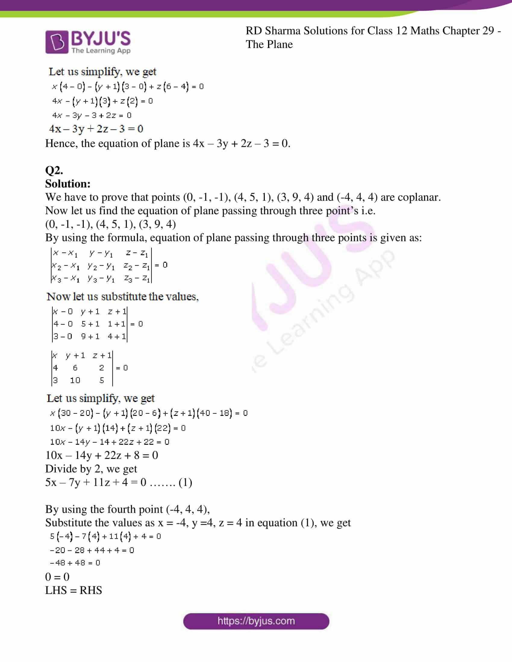 rd sharma solutions for class 12 maths chapter 29 ex 1 4