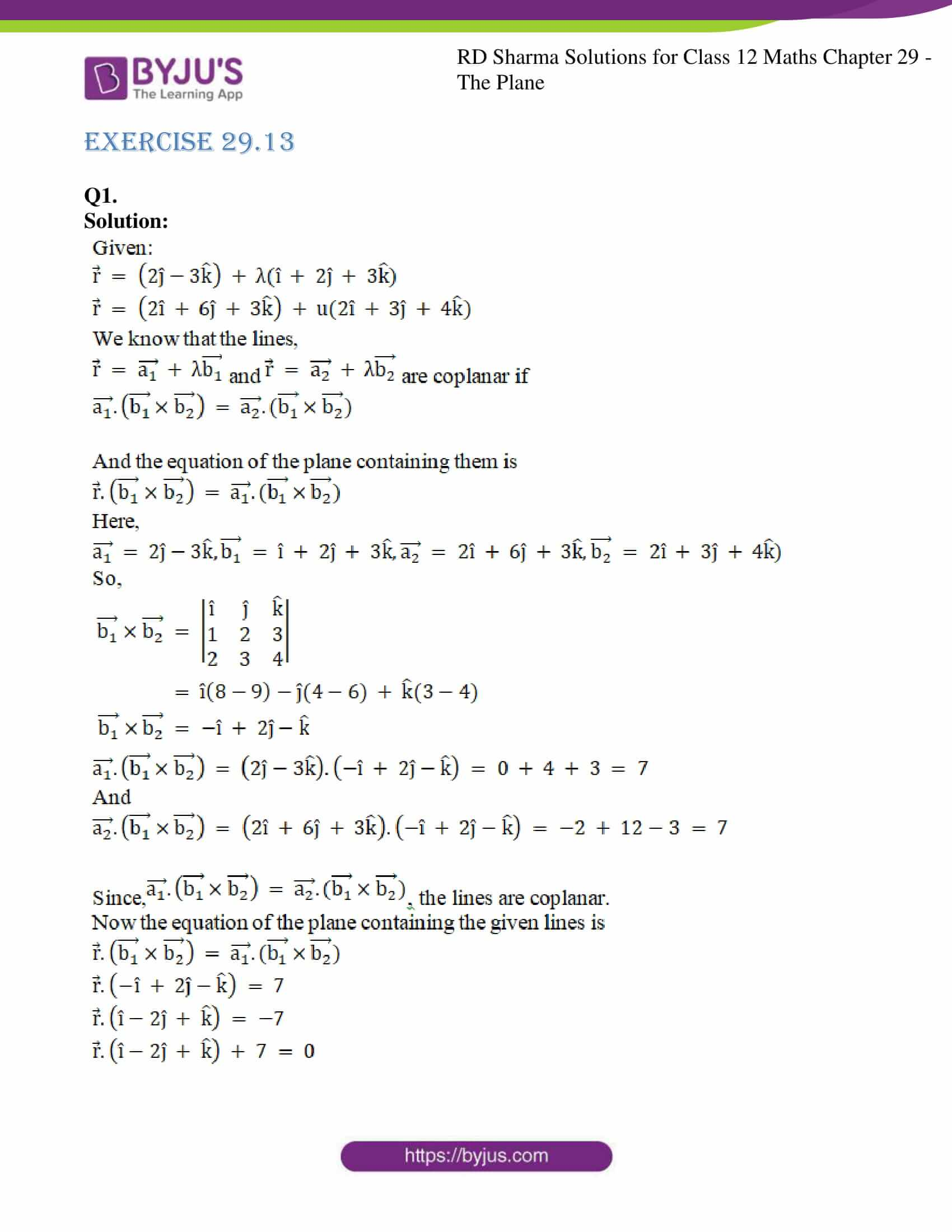 rd sharma solutions for class 12 maths chapter 29 ex 13 1