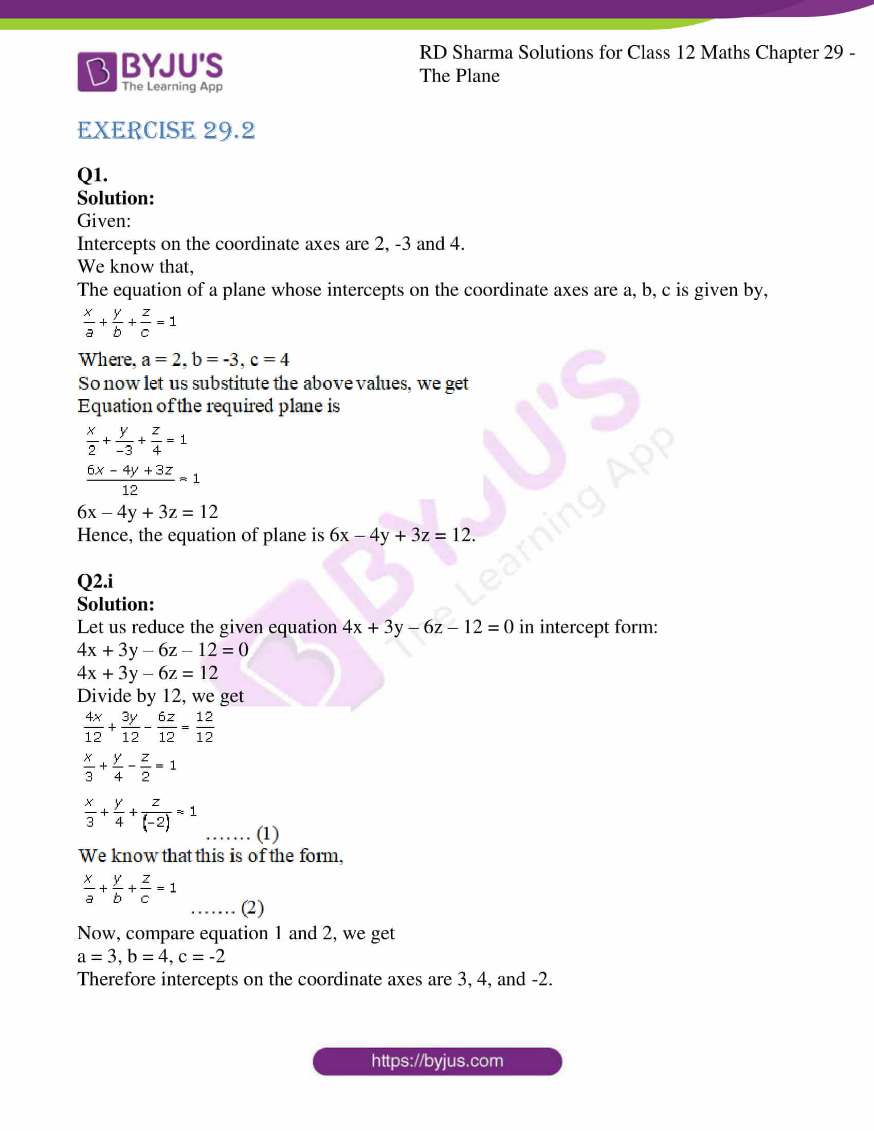 rd sharma solutions for class 12 maths chapter 29 ex 2 1
