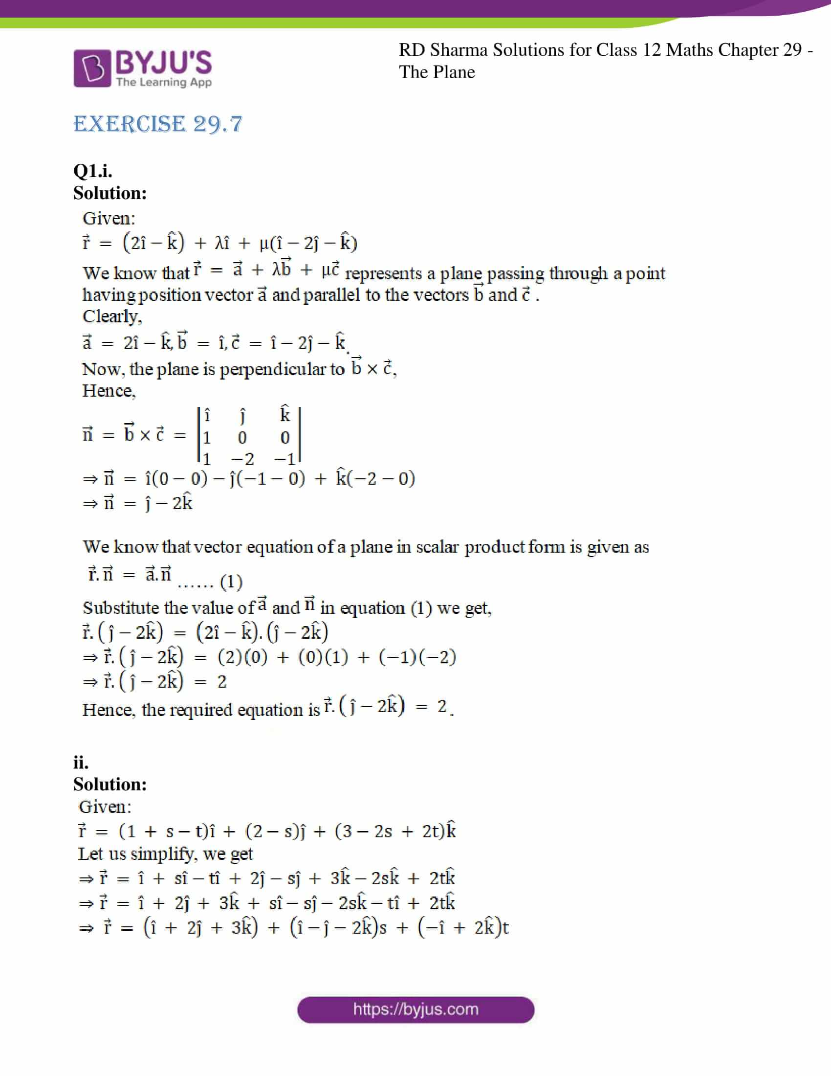 rd sharma solutions for class 12 maths chapter 29 ex 7 1