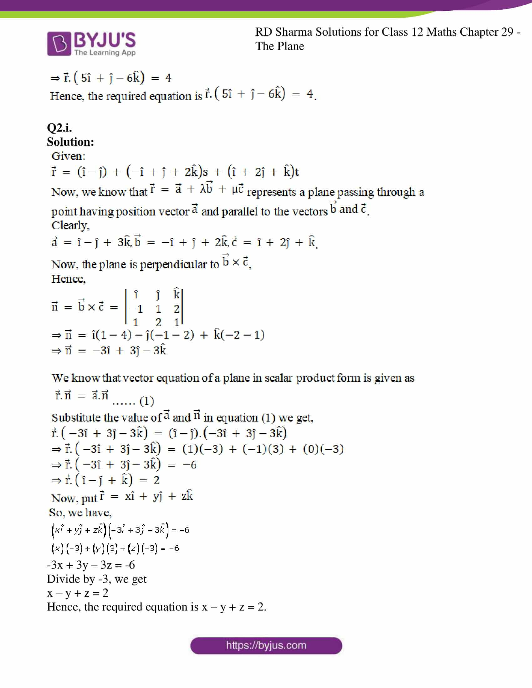 rd sharma solutions for class 12 maths chapter 29 ex 7 4