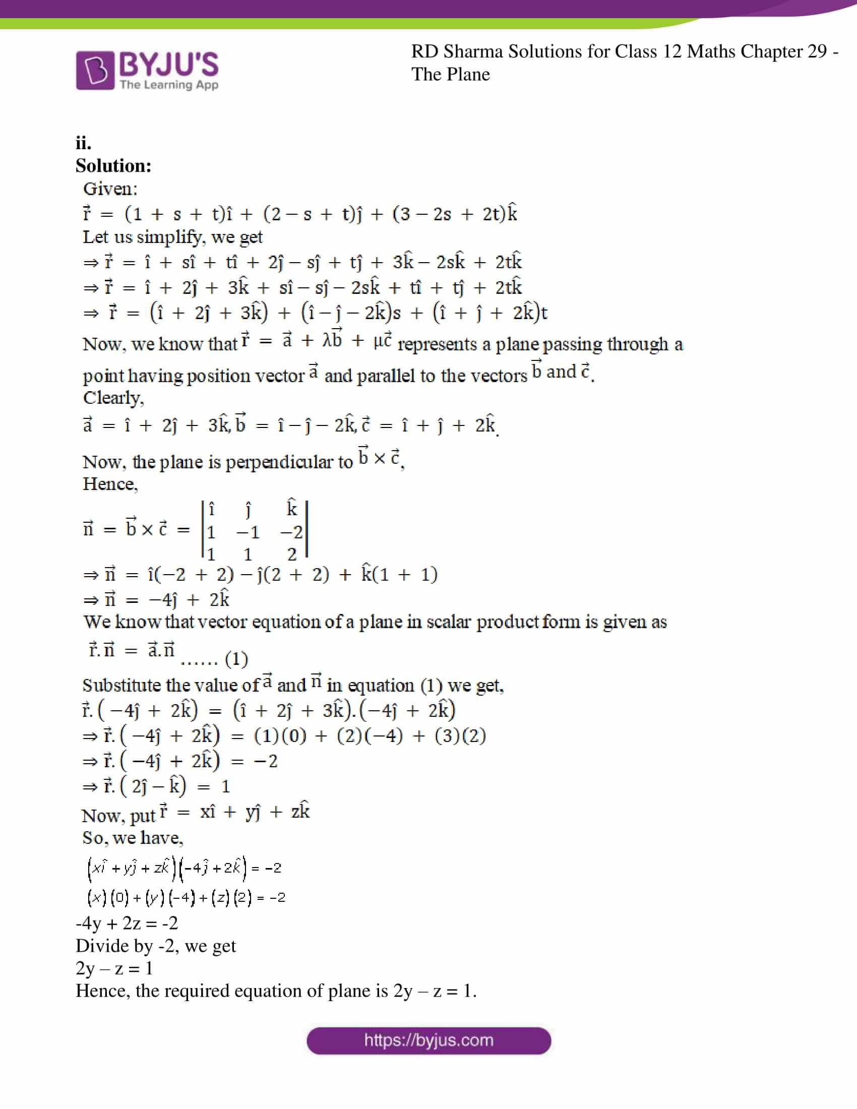 rd sharma solutions for class 12 maths chapter 29 ex 7 5