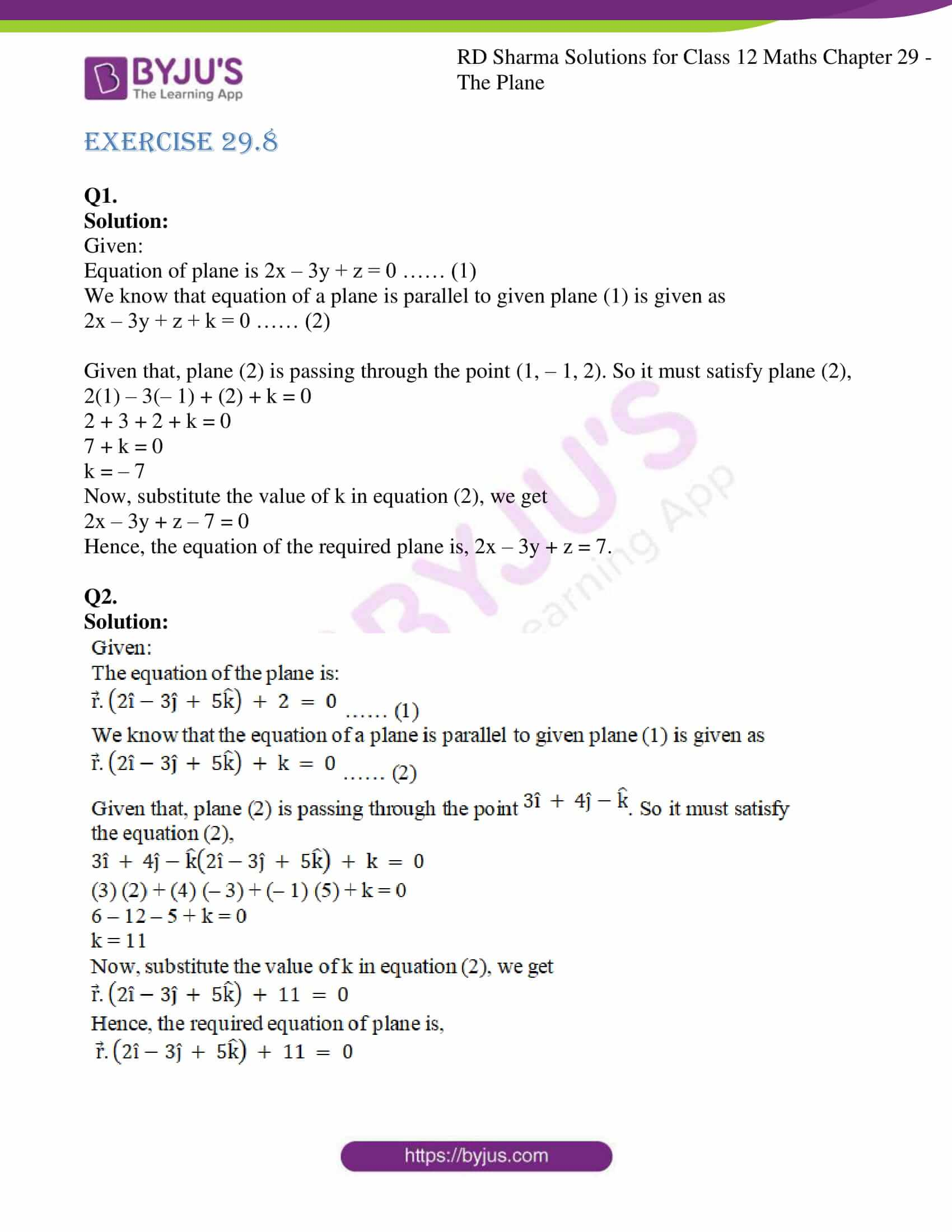 rd sharma solutions for class 12 maths chapter 29 ex 8 1