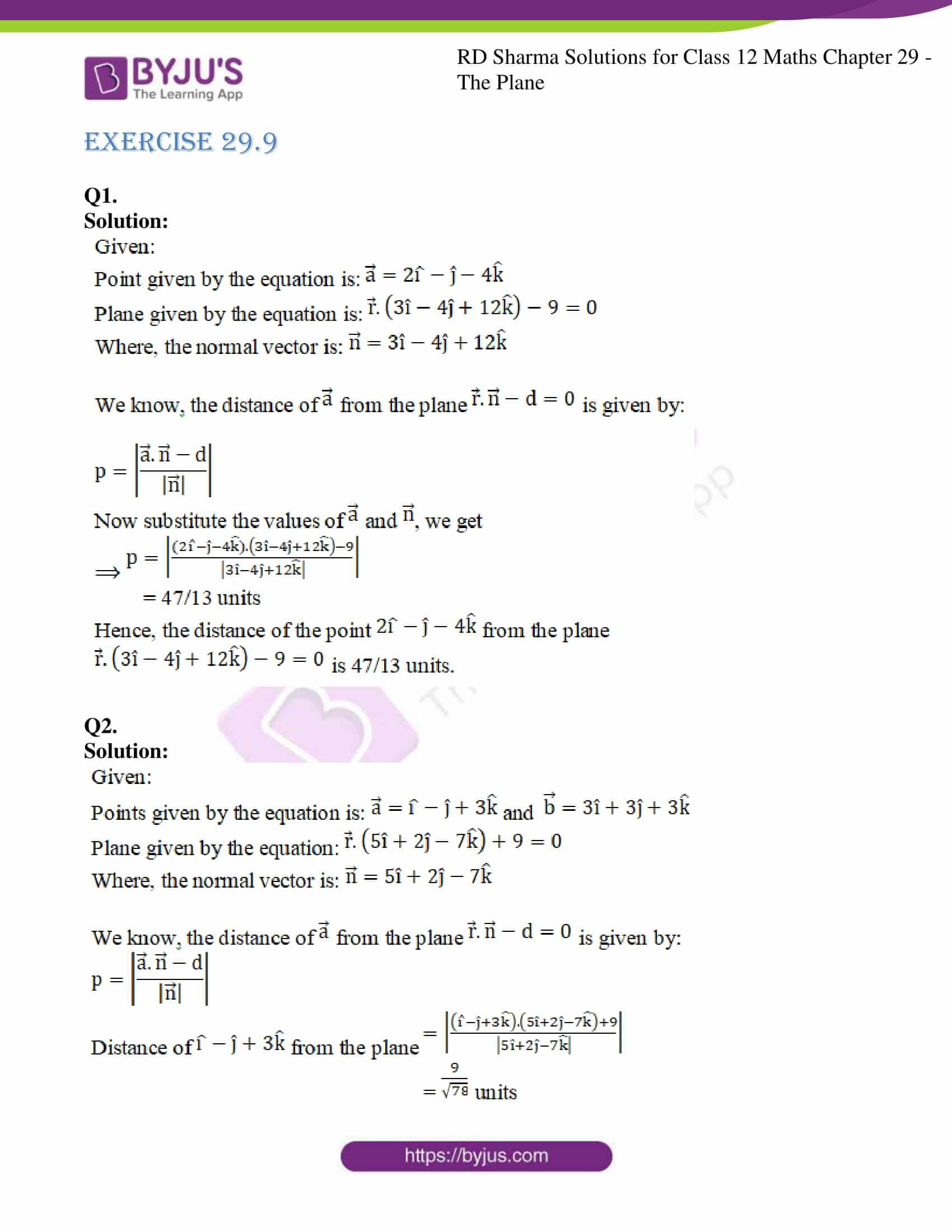 rd sharma solutions for class 12 maths chapter 29 ex 9 1