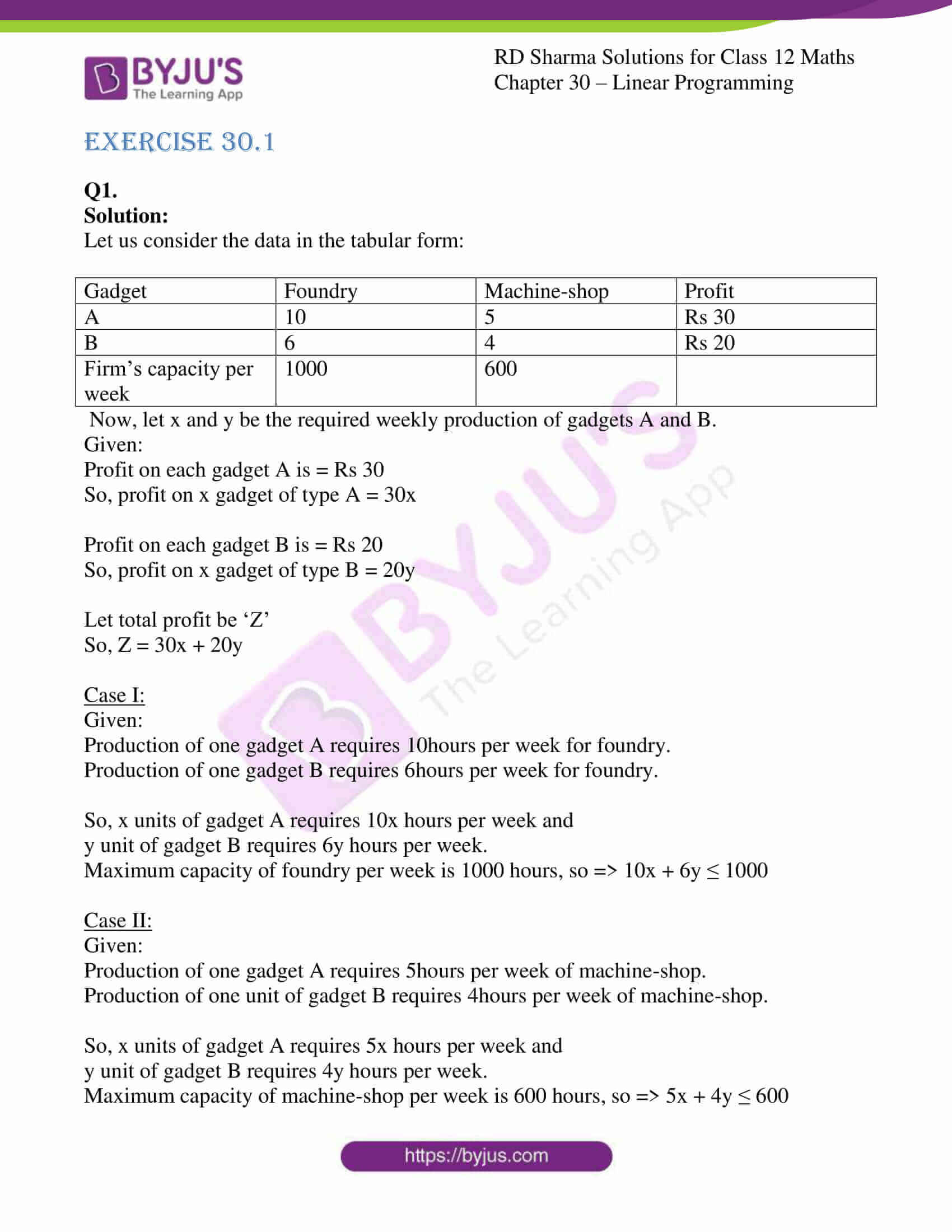 rd sharma solutions for class 12 maths chapter 30 ex 1 1