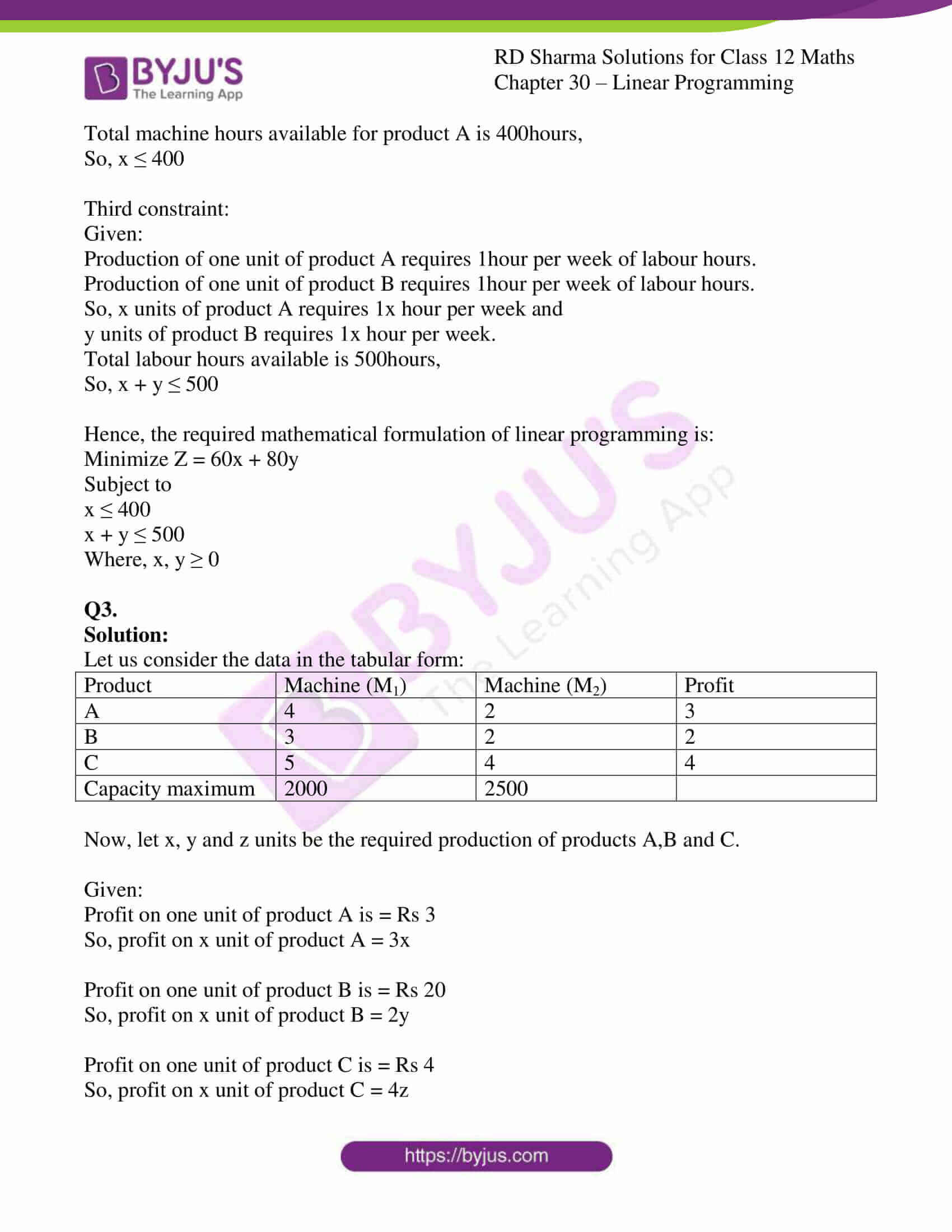 rd sharma solutions for class 12 maths chapter 30 ex 1 3