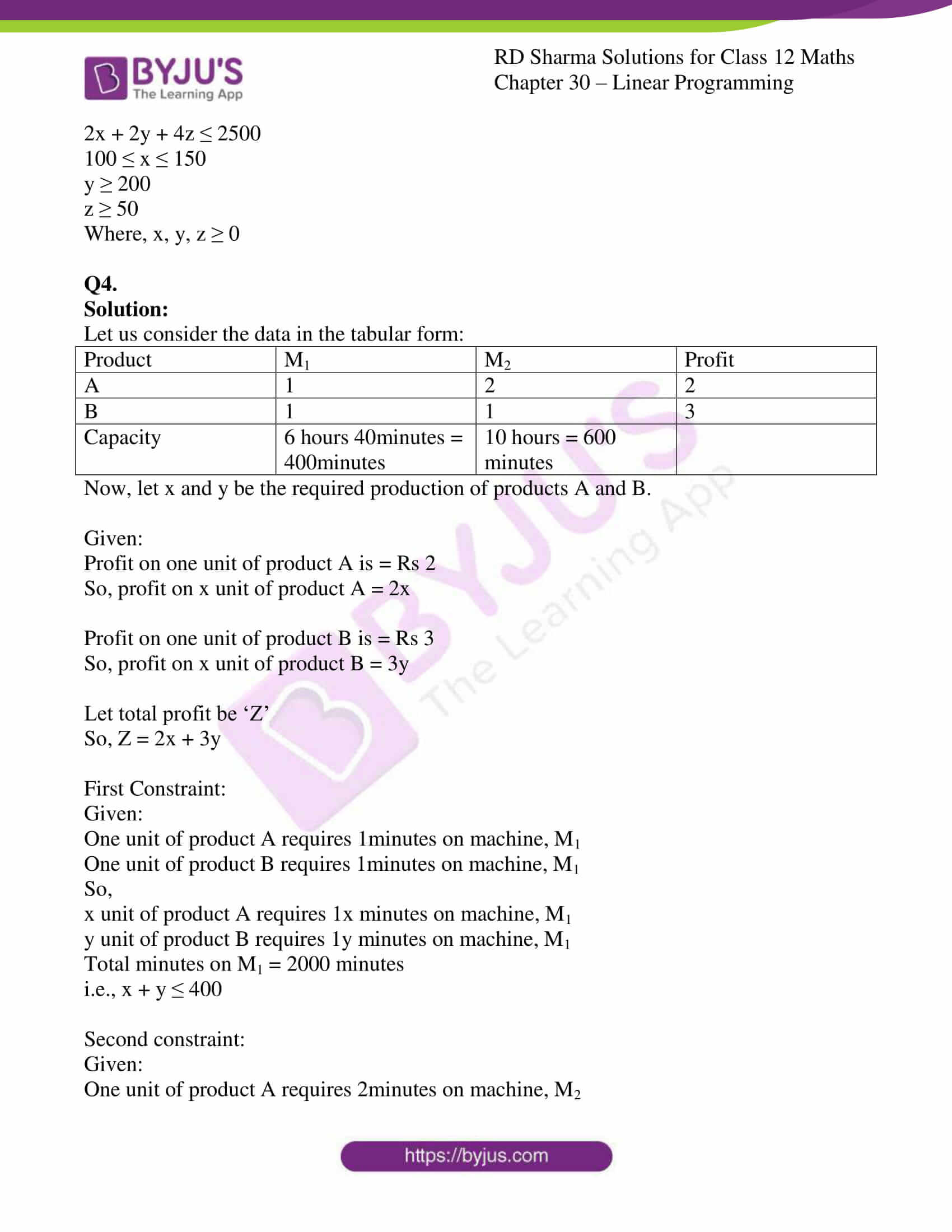 rd sharma solutions for class 12 maths chapter 30 ex 1 5