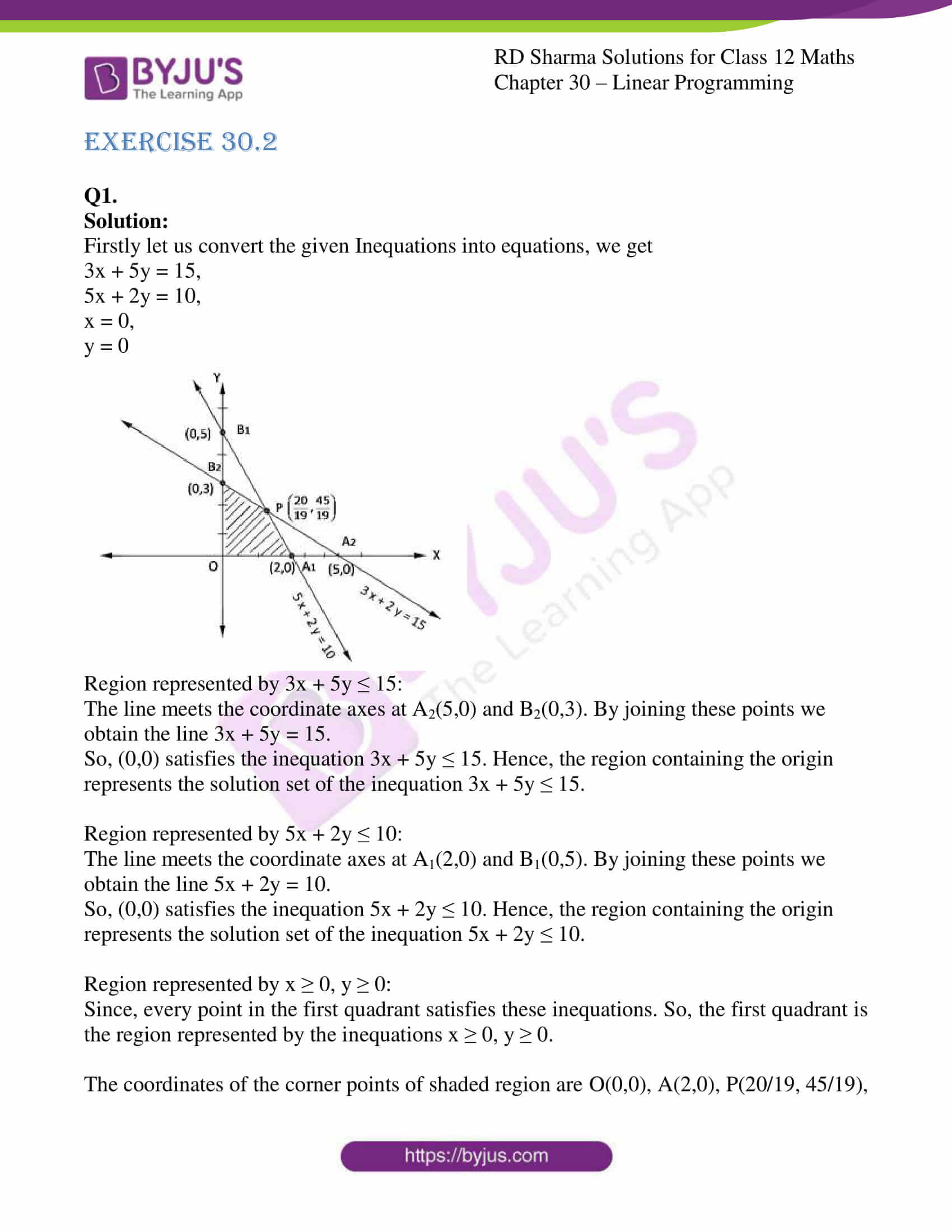 rd sharma solutions for class 12 maths chapter 30 ex 2 1