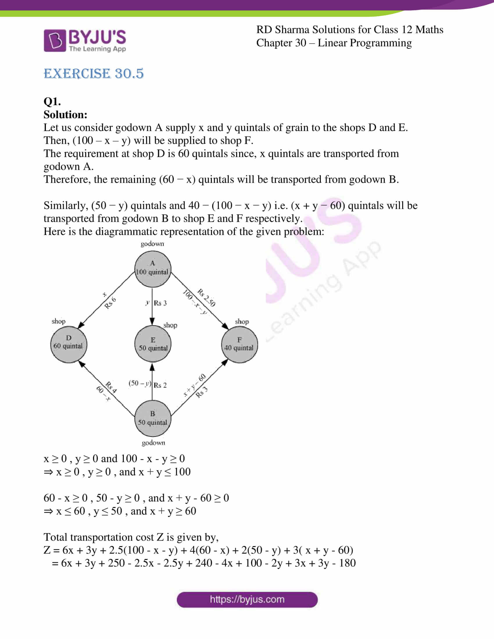 rd sharma solutions for class 12 maths chapter 30 ex 5 1