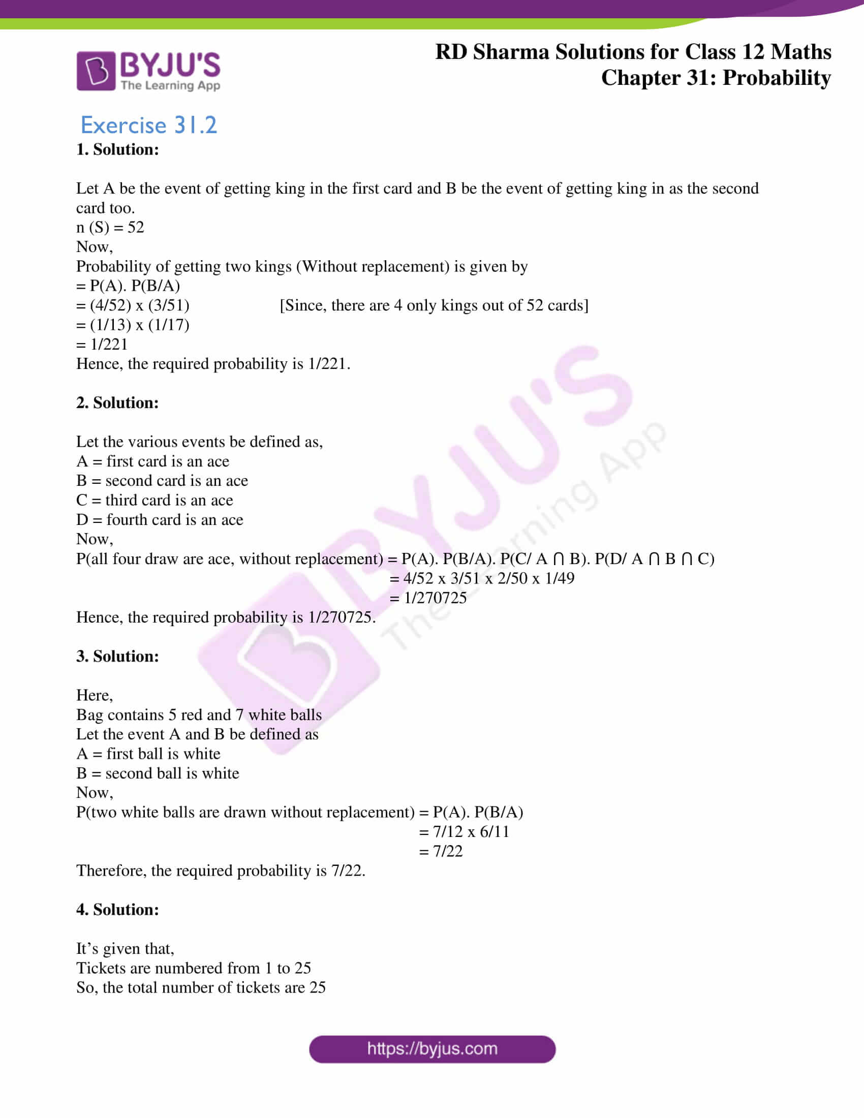 rd sharma solutions for class 12 maths chapter 31 ex 2 1