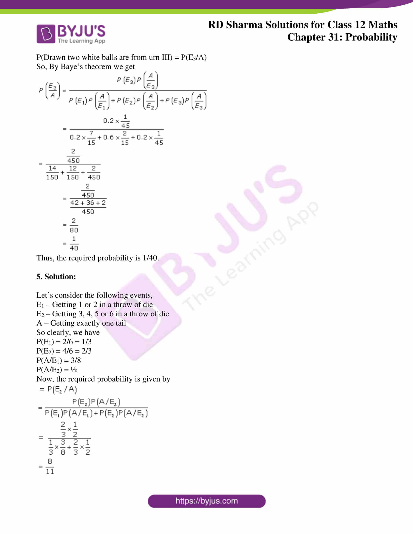 rd sharma solutions for class 12 maths chapter 31 ex 7 6