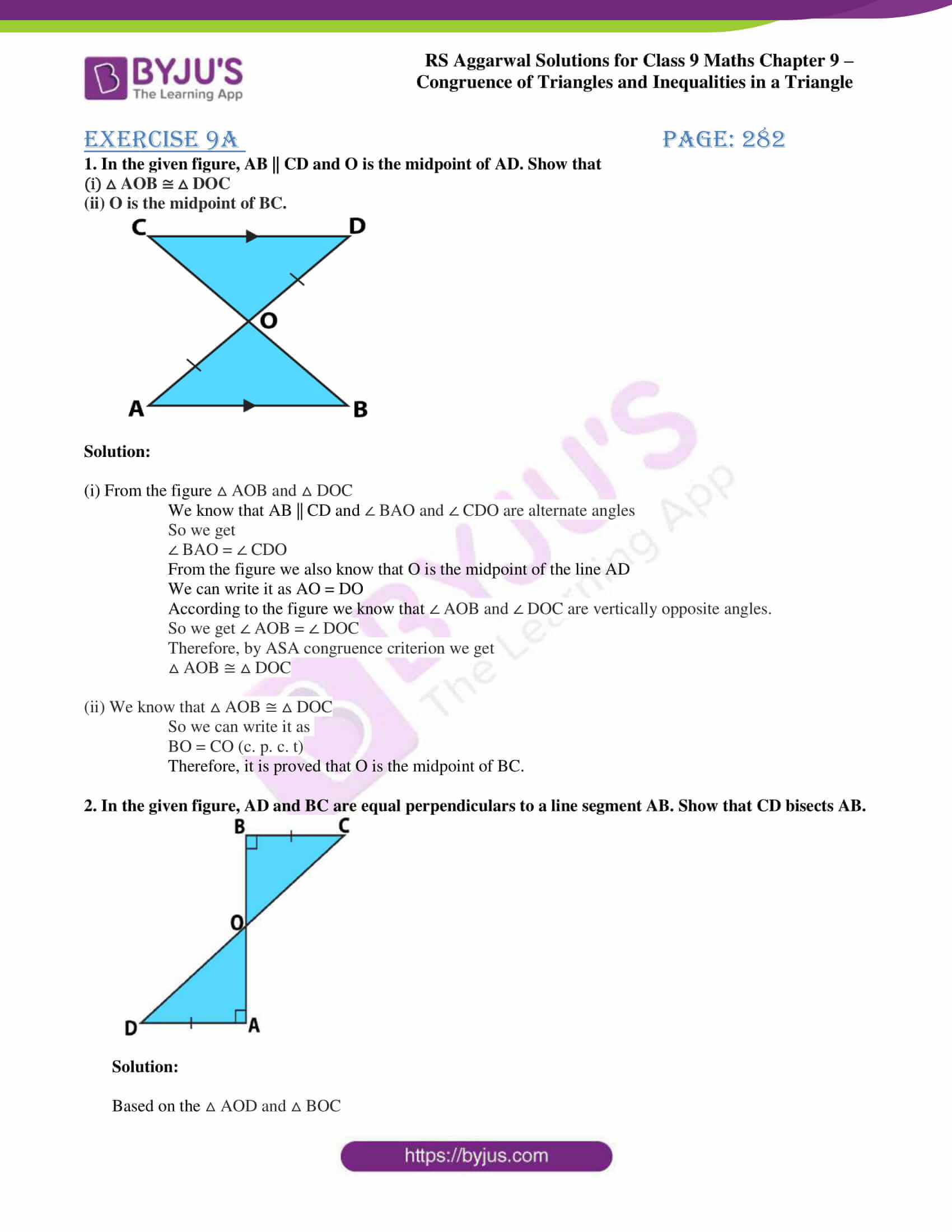 rs aggarwal class 9 solutions maths chapter 9 ex a 01