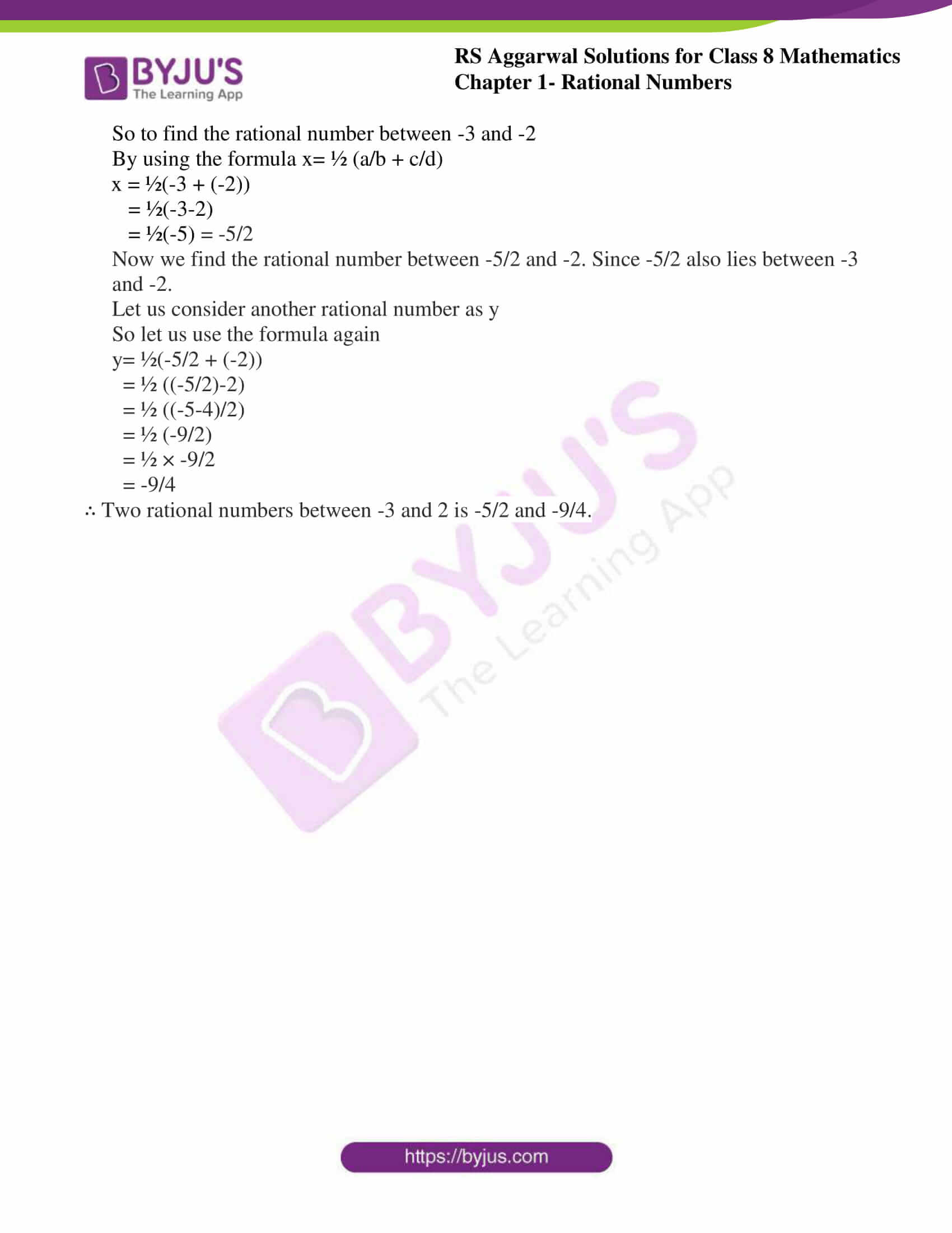 rs aggarwal solution for class 8 maths chapter 1 ex f 2