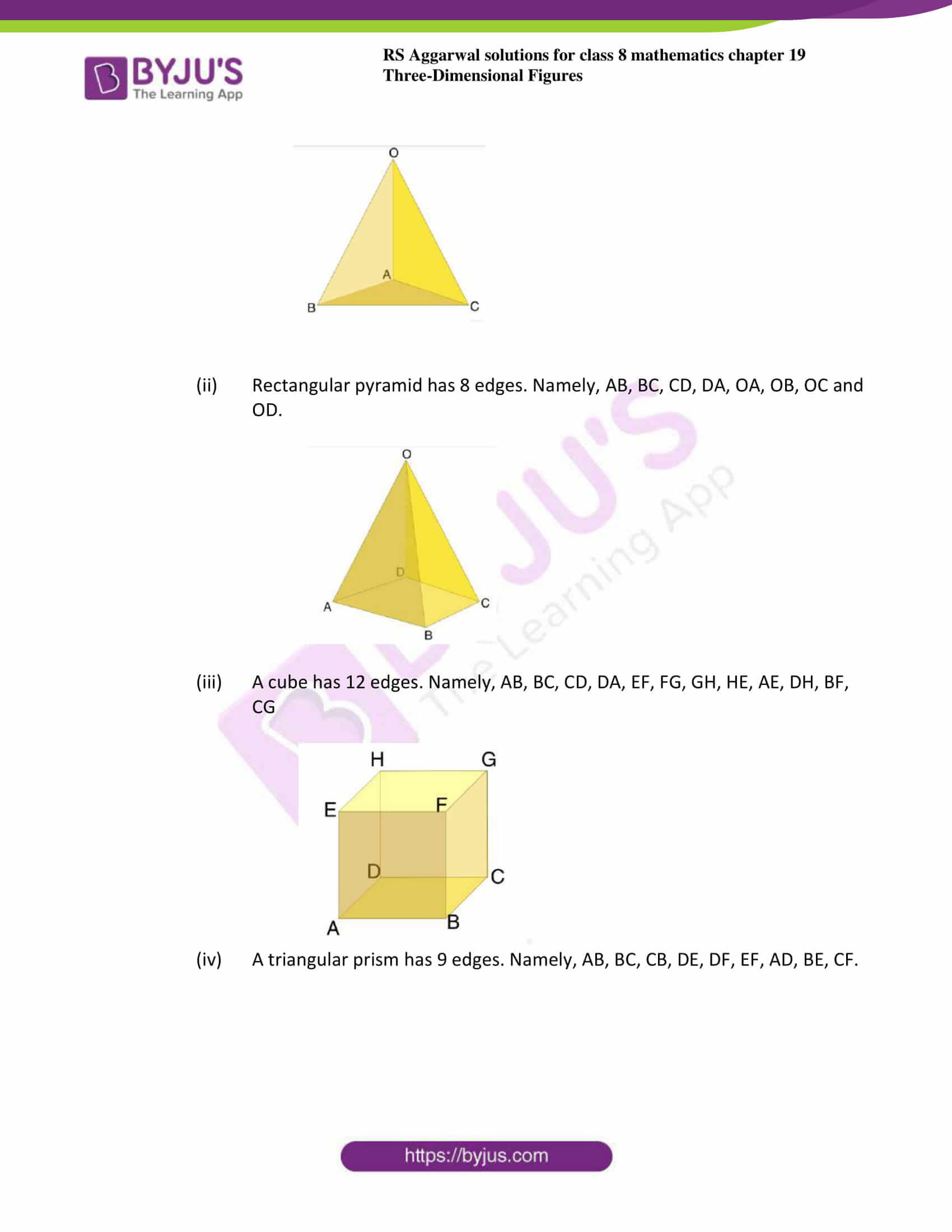 RS Aggarwal Solutions for Class 8 Chapter 19 - Three ...