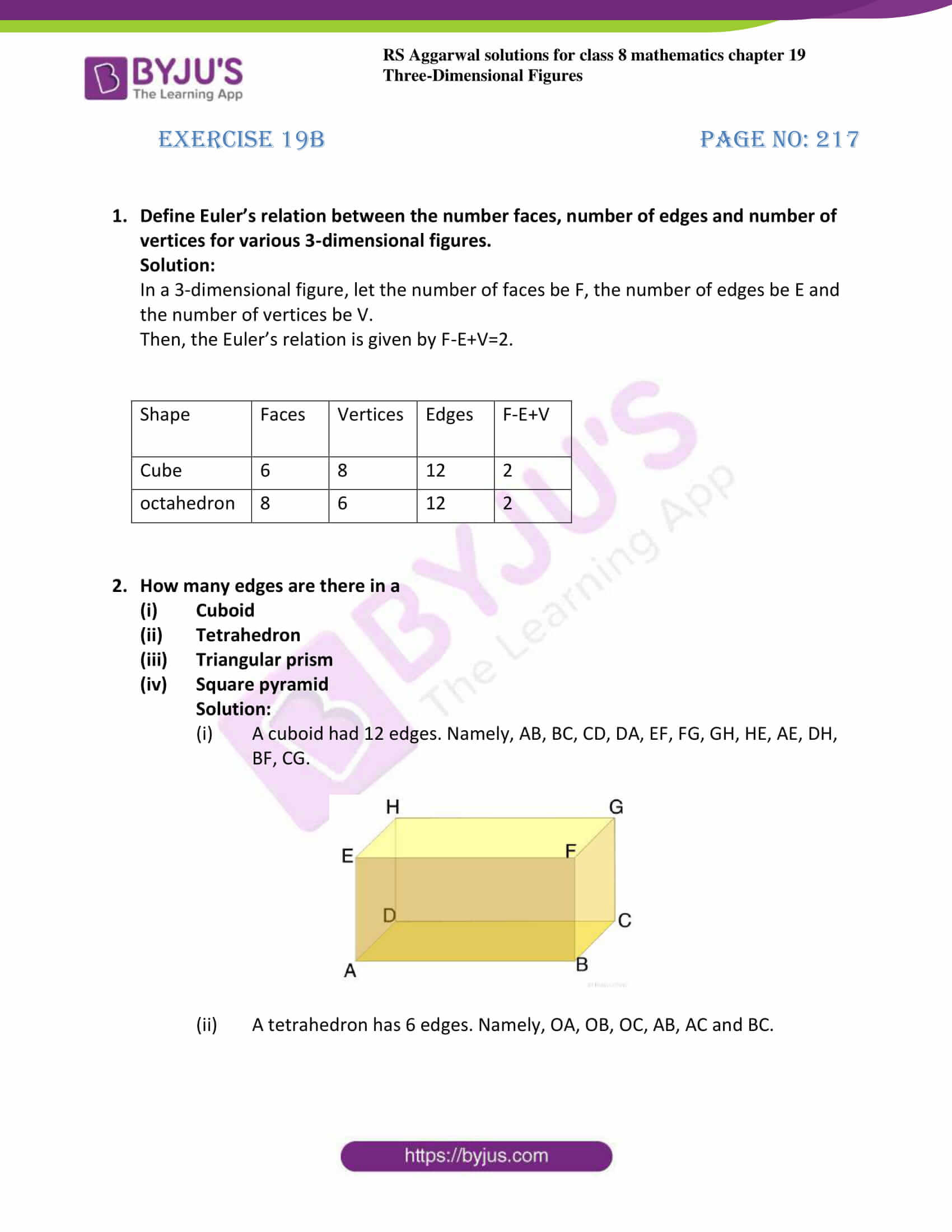 rs aggarwal solution for class 8 maths chapter 19 ex b 1