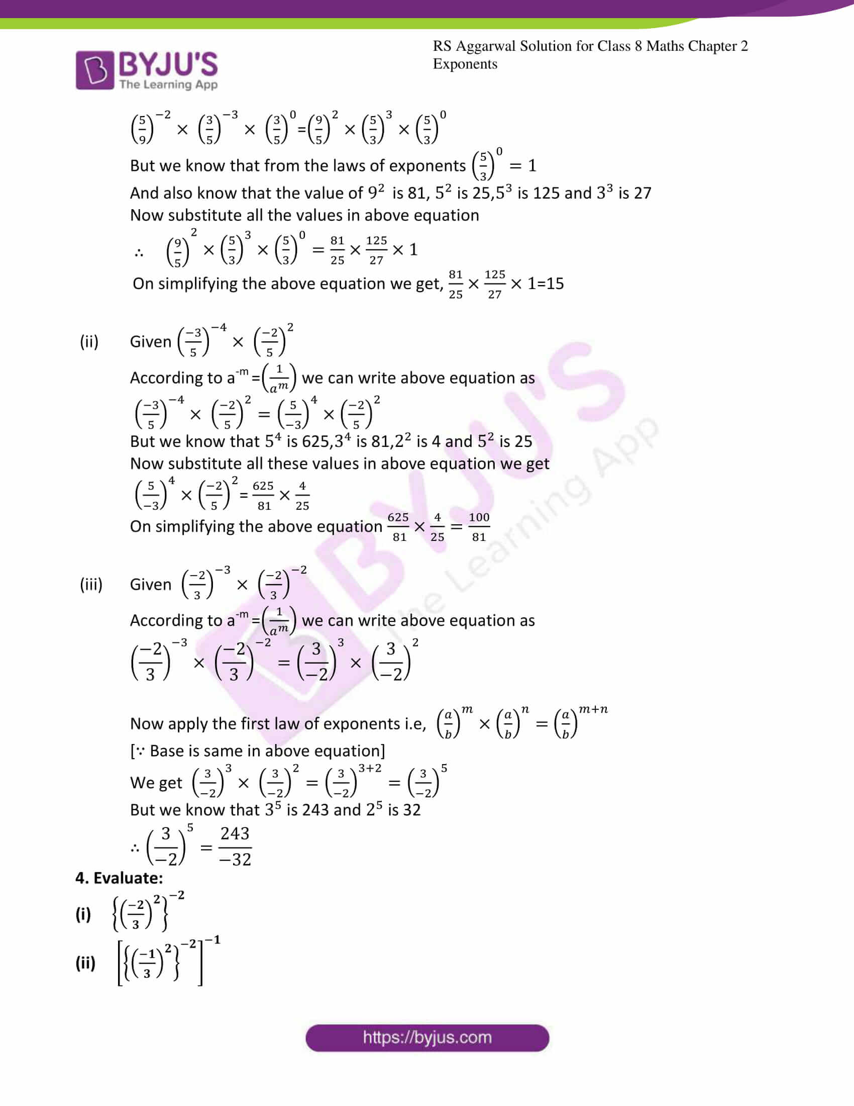 rs aggarwal solution for class 8 maths chapter 2 ex a 4