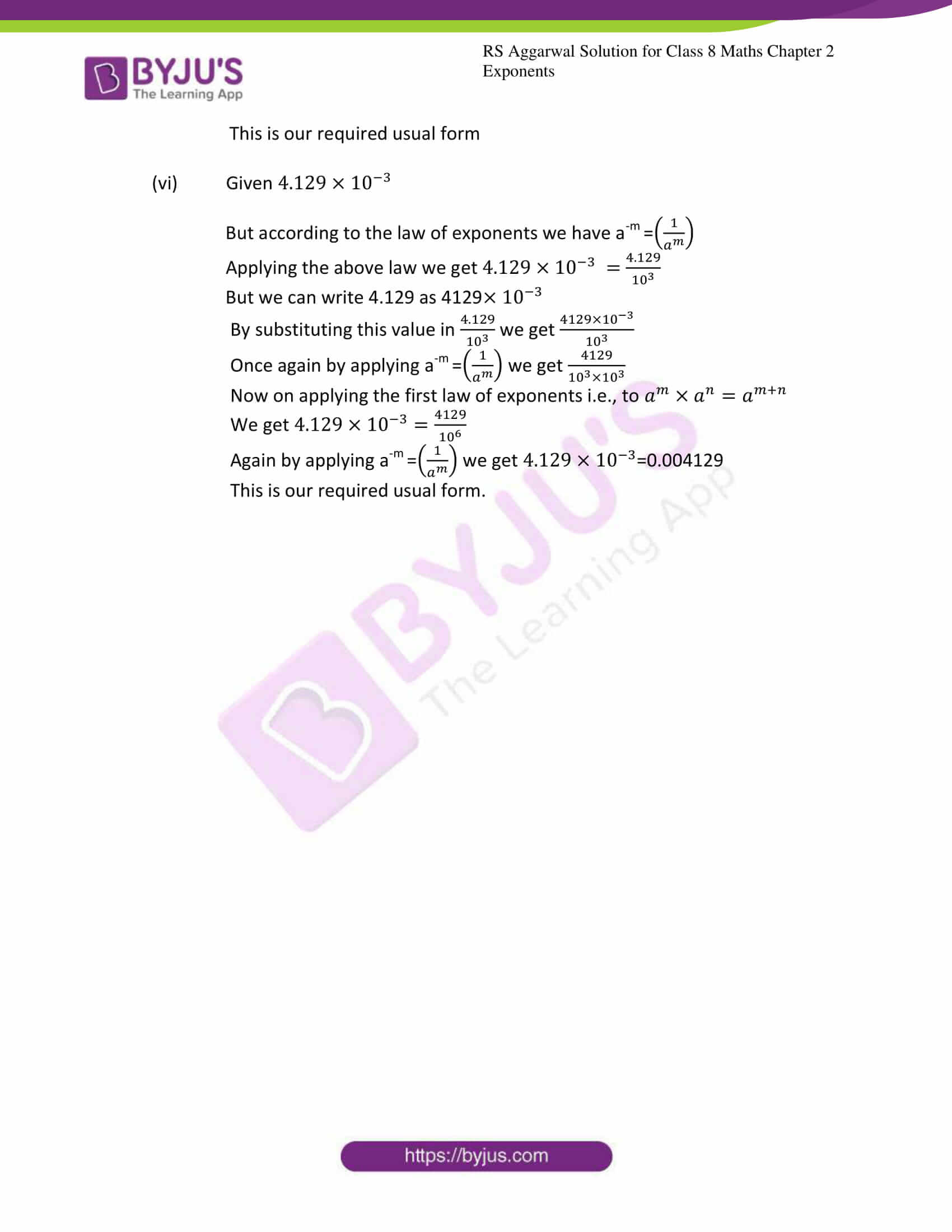 rs aggarwal solution for class 8 maths chapter 2 ex b 8