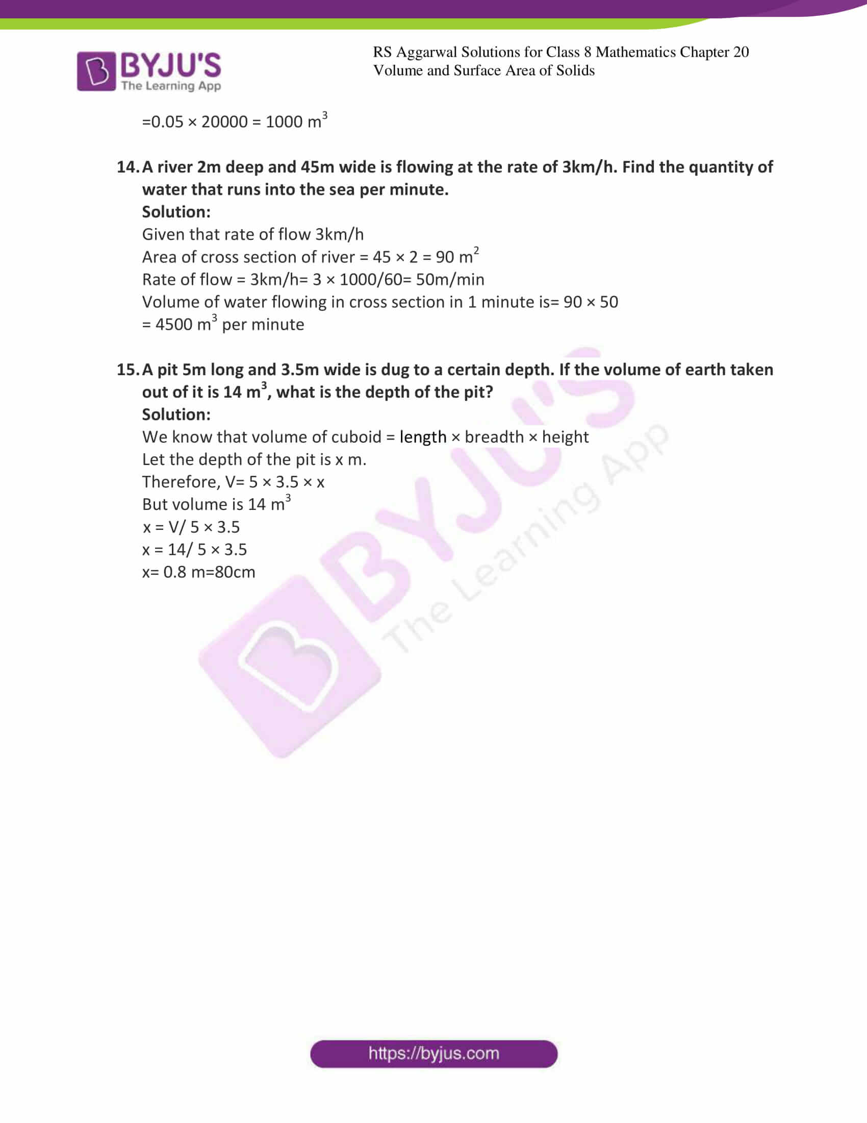 rs aggarwal solution for class 8 maths chapter 20 ex a 6