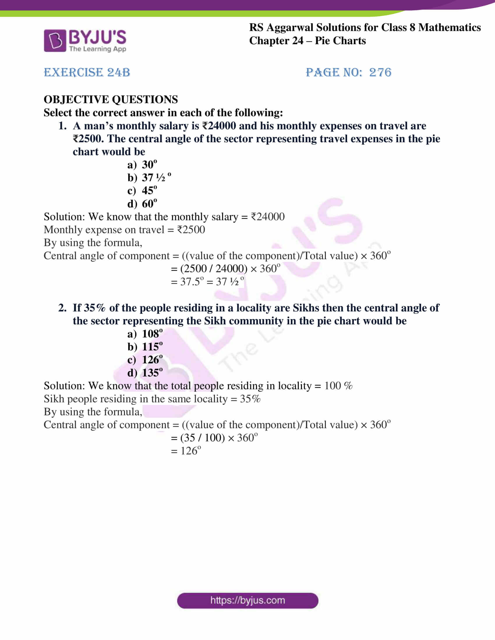 rs aggarwal solution for class 8 maths chapter 24 ex b 1