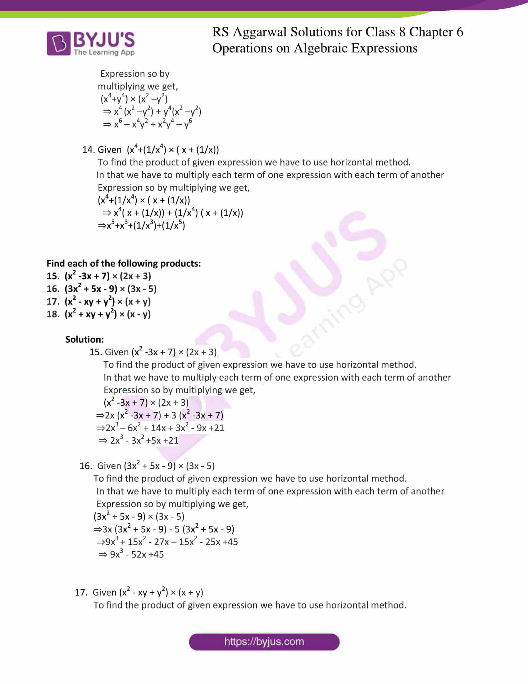 rs aggarwal solution for class 8 maths chapter 6 ex b 4