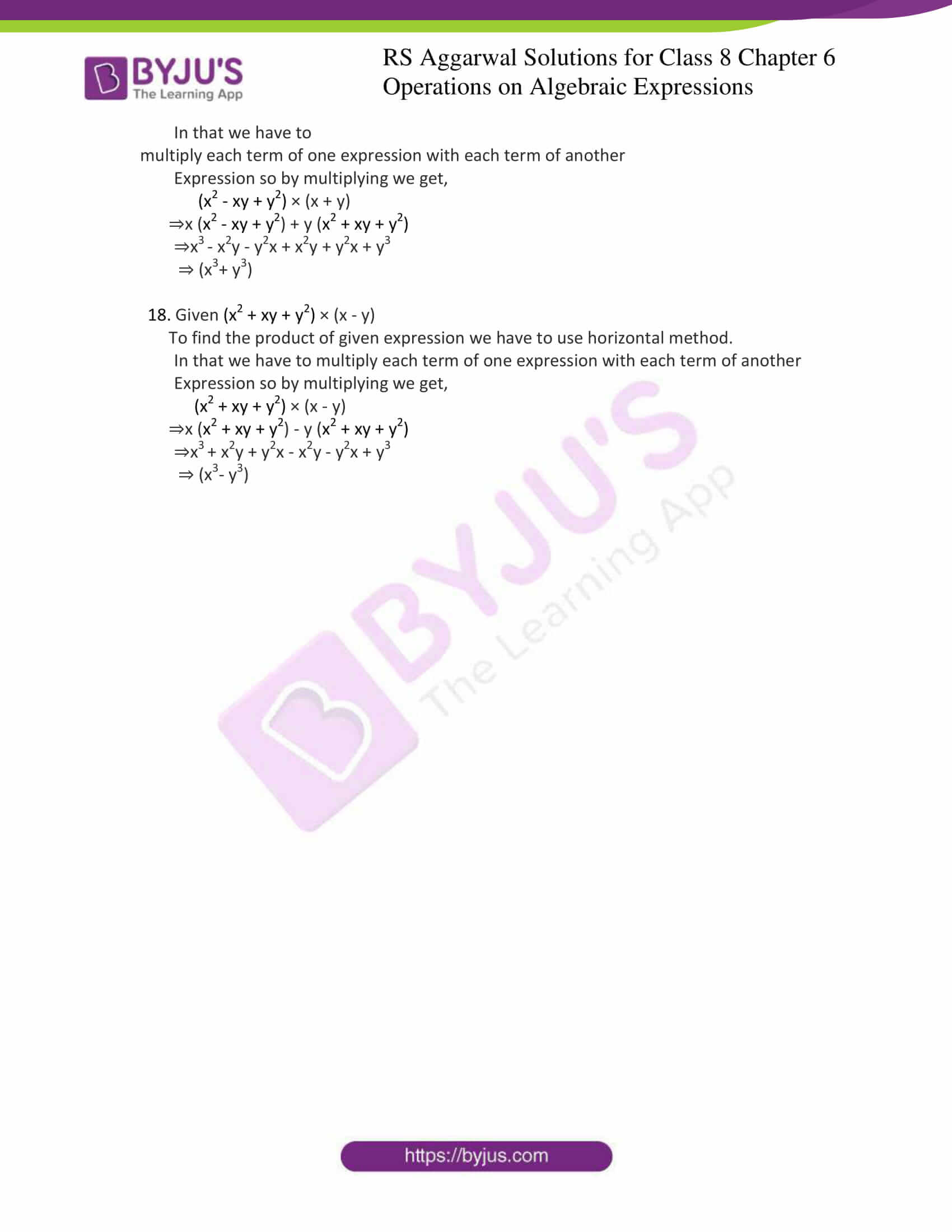 rs aggarwal solution for class 8 maths chapter 6 ex b 5