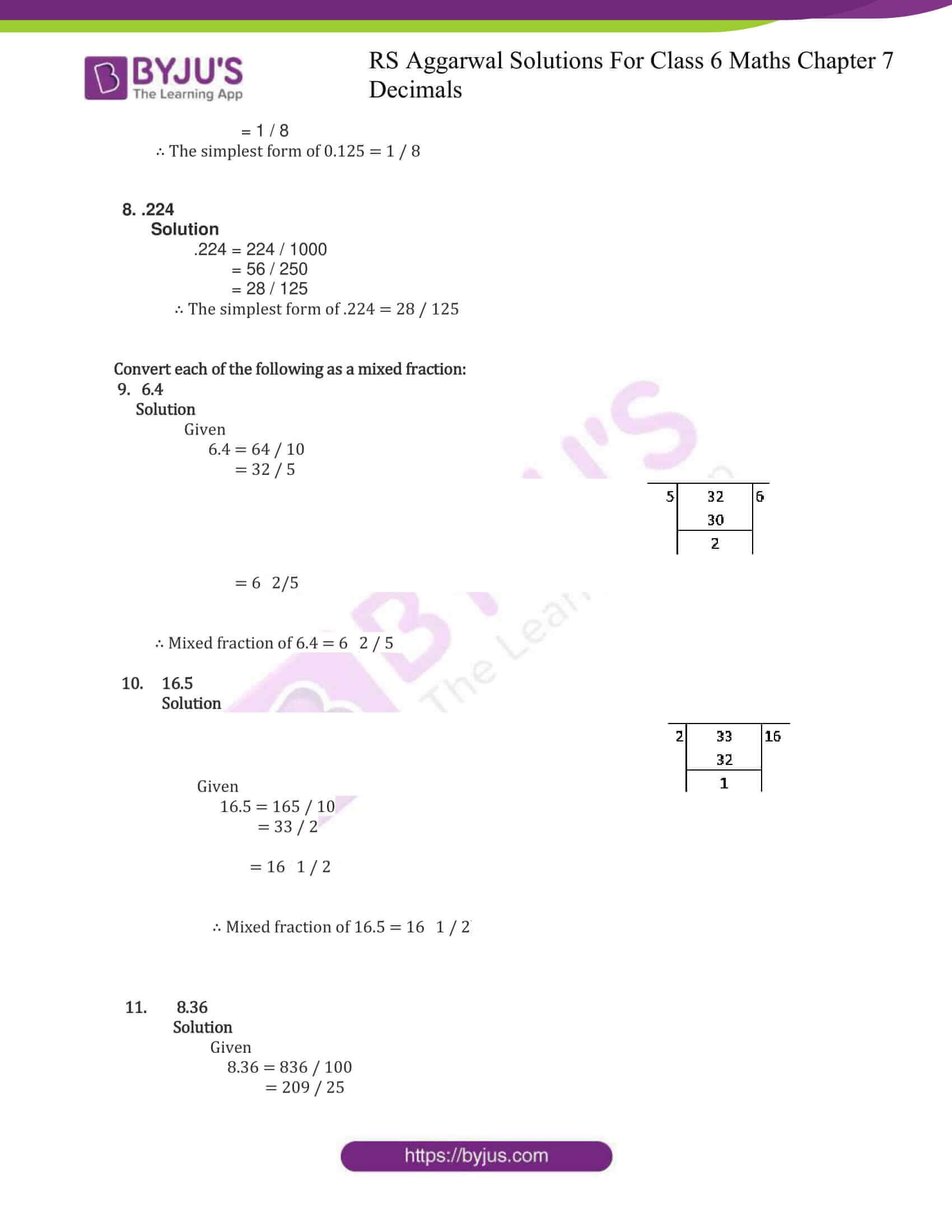 rs aggarwal solutions for class 6 maths chapter 7 deci ex b 2